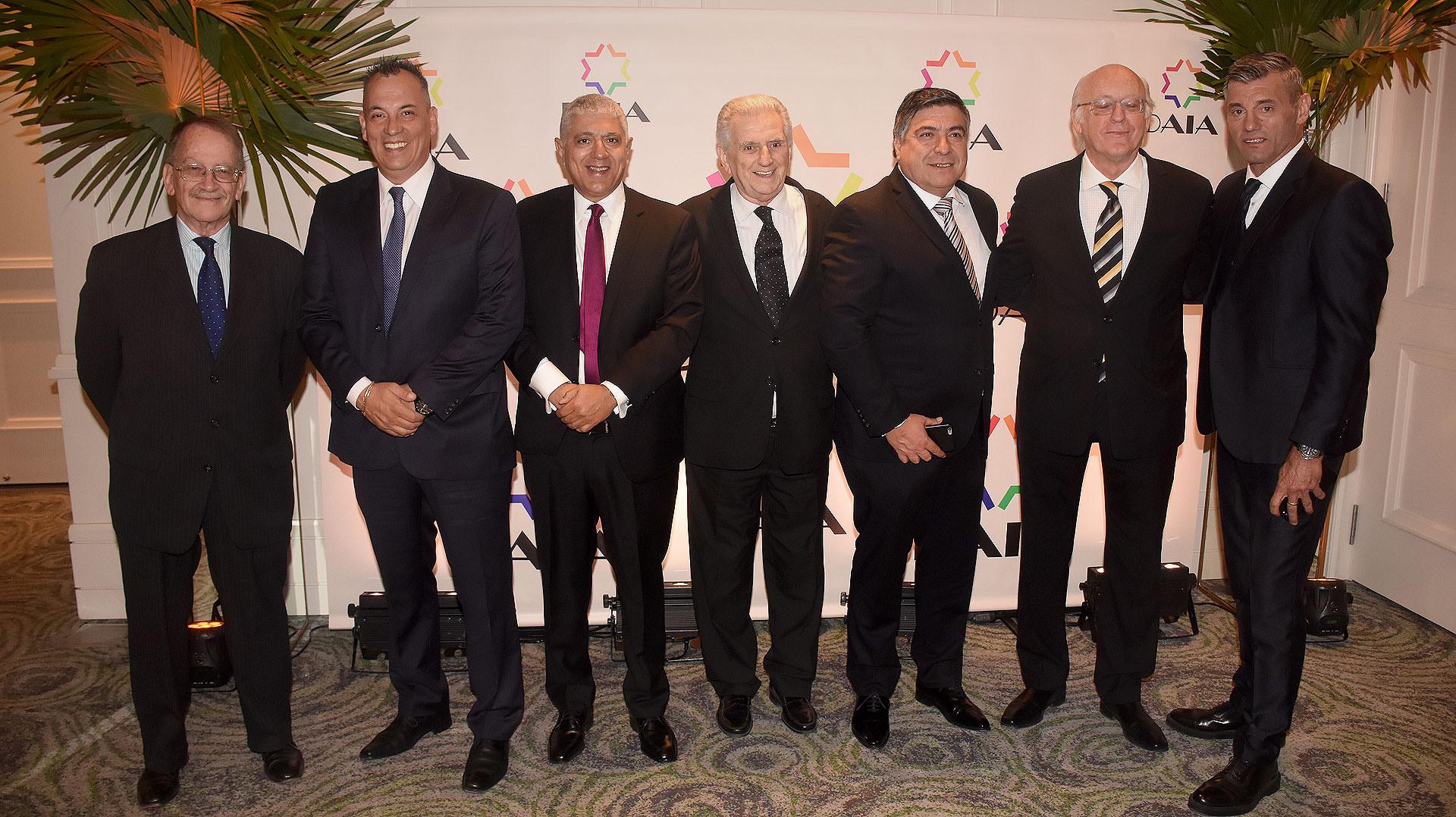 Sergio Goycochea también estuvo entre los invitados a la gran cena de la DAIA /// Fotos: Nicolás Stulberg