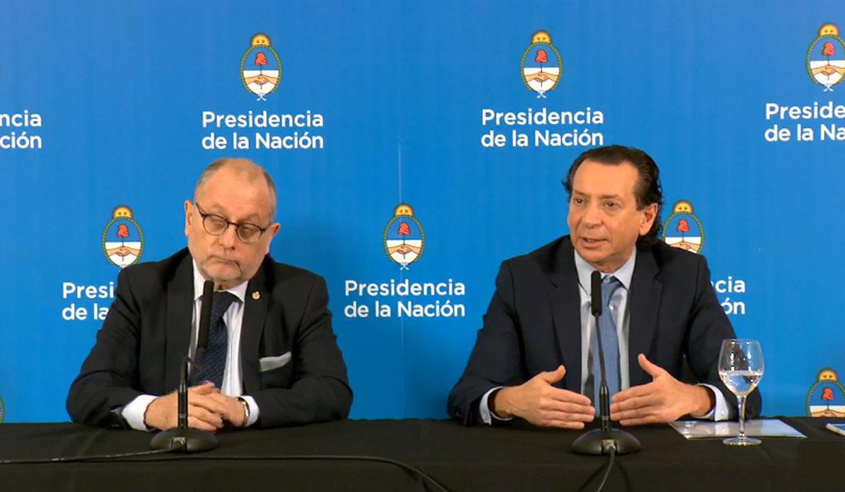 El canciller Faurie y el ministro Sica.