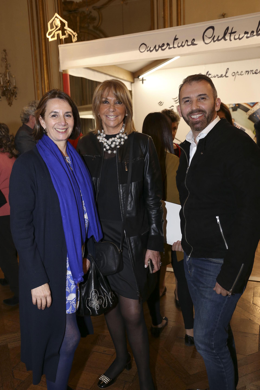 Dominique Biquard, Susana Serra y Marcelo Toledo