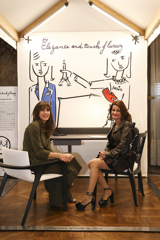 La Agregada cultural de la embajada francesa, Caroline Coll y Sandy Saad