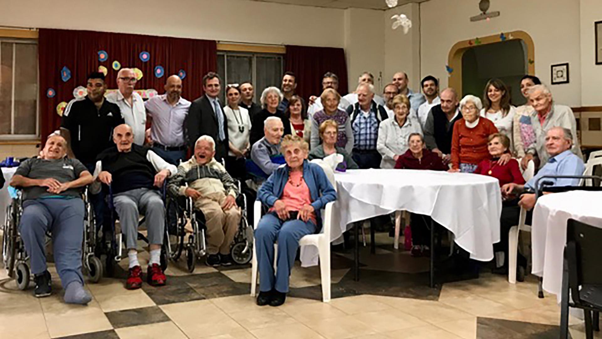 Hogar Don Guanella aloja a más de 40 personas mayores de 60 años, con una población italiana