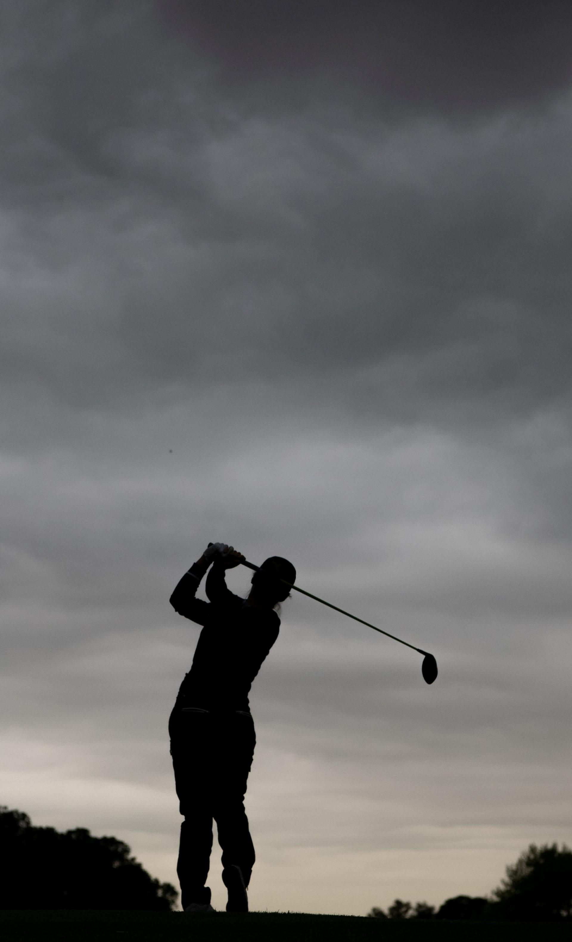 La francesa Mathilde Claisse, en la competencia de golf, en Hurlingham