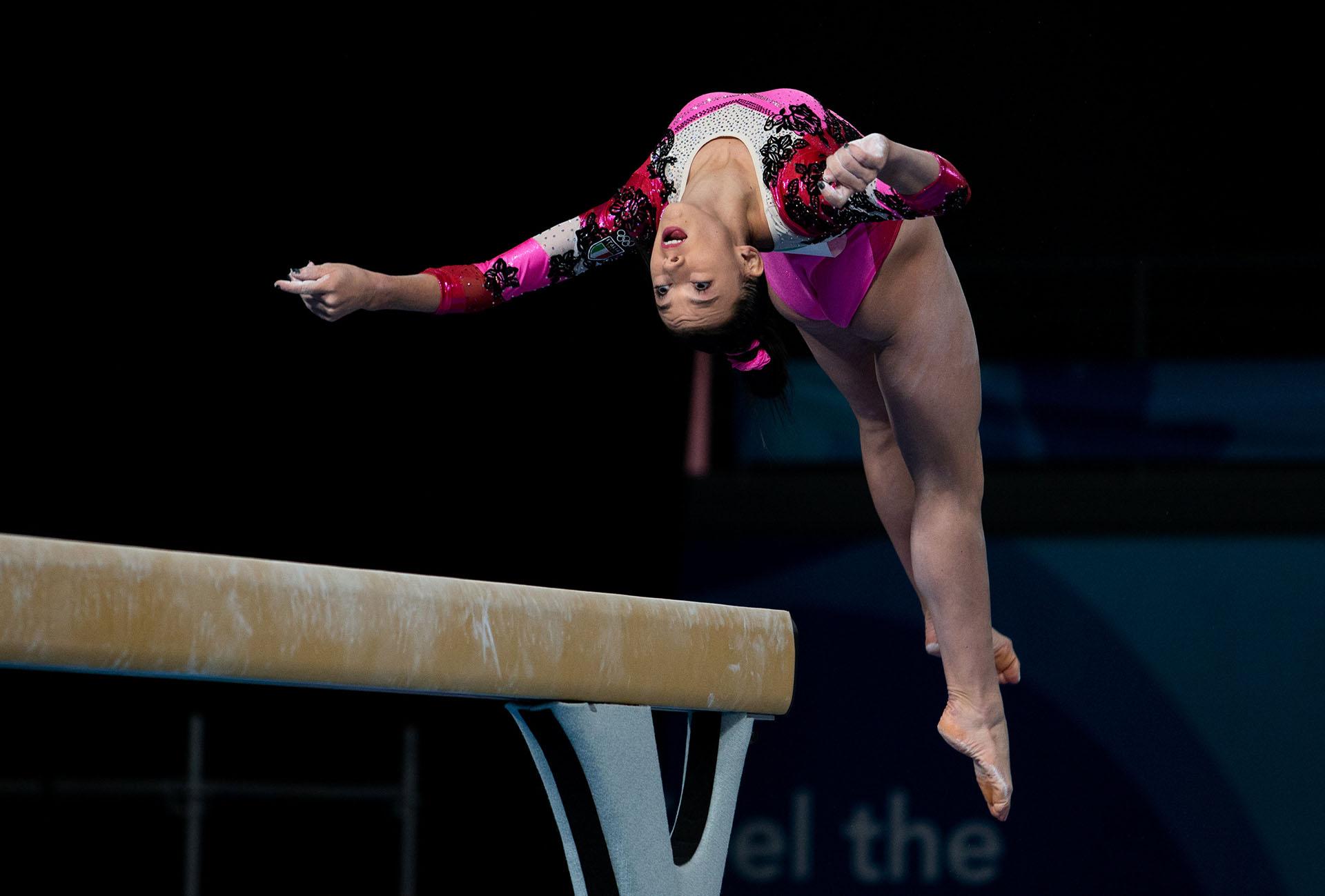 La italiana Giorgia Villa y su perfomance en gimnasia artística