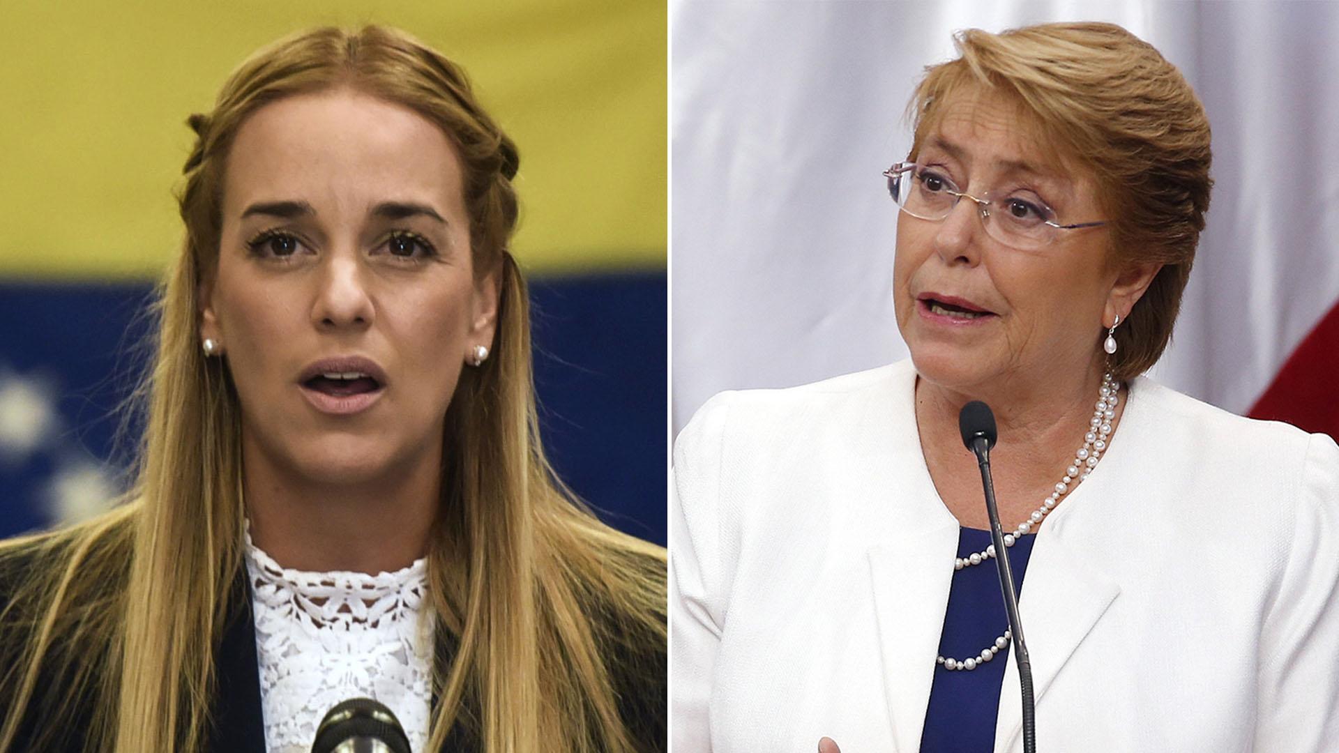 Lilian Tintori y Michelle Bachelet