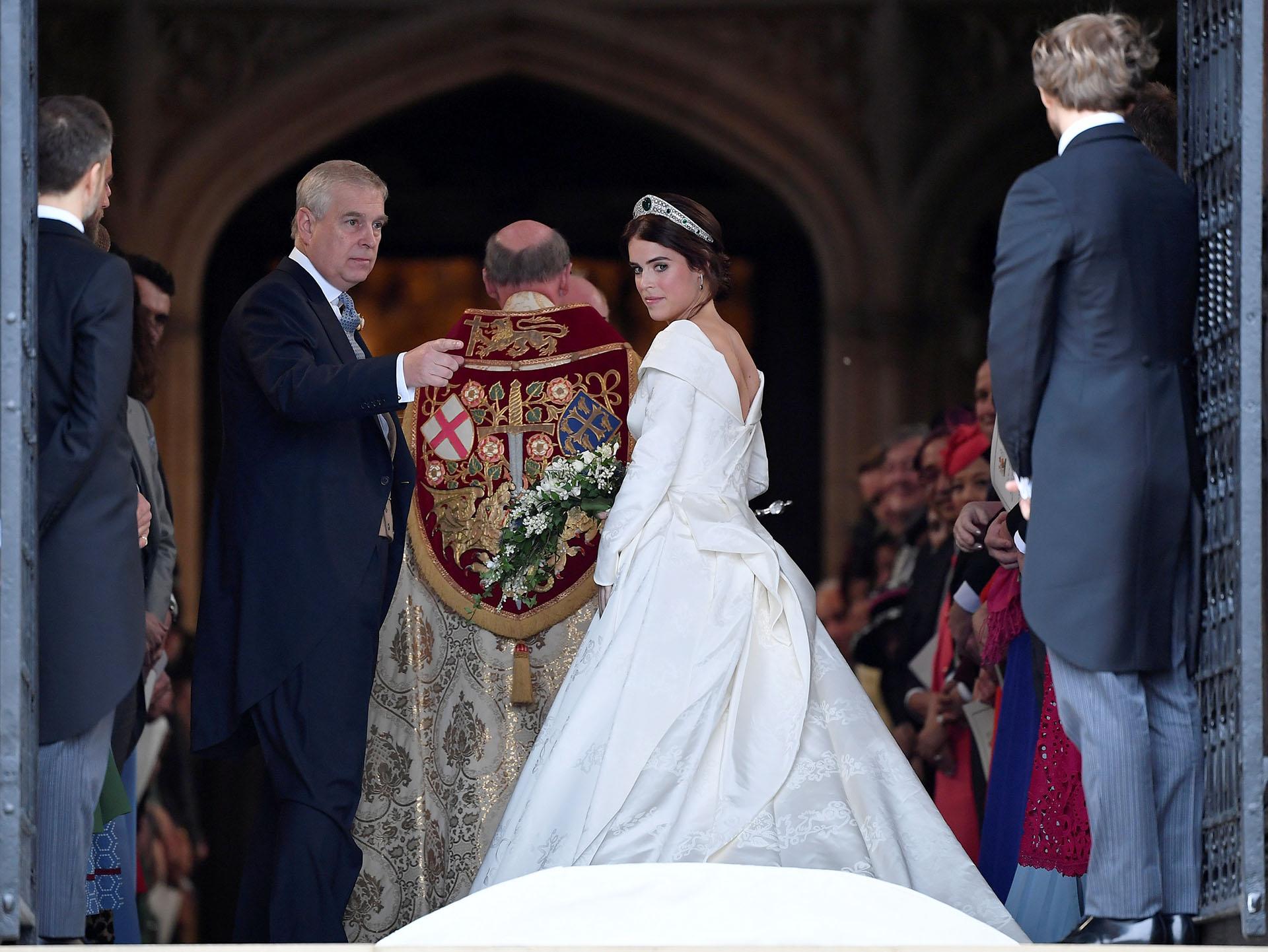 La princesa Eugenie llegando a la Capilla