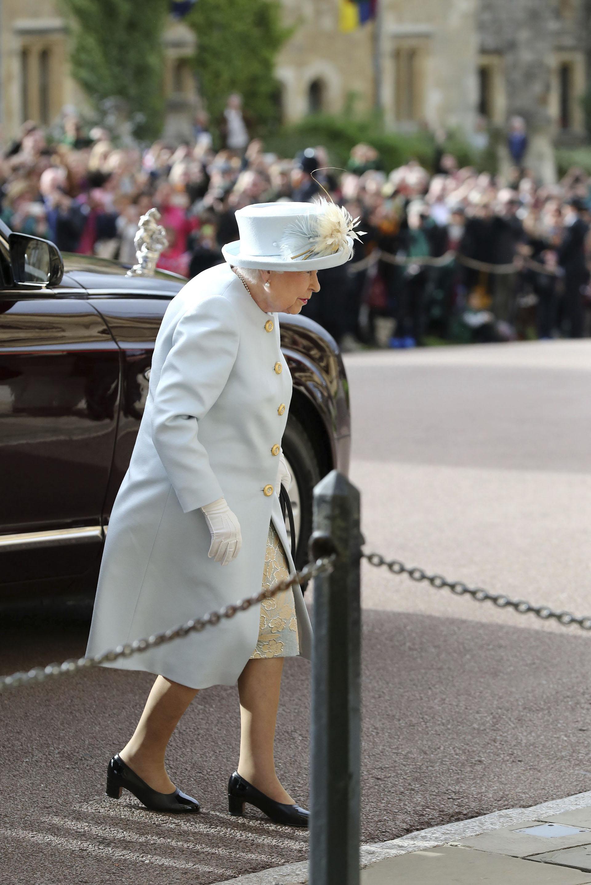 La reina Isabel II, la última en llegar, como indica el protocolo