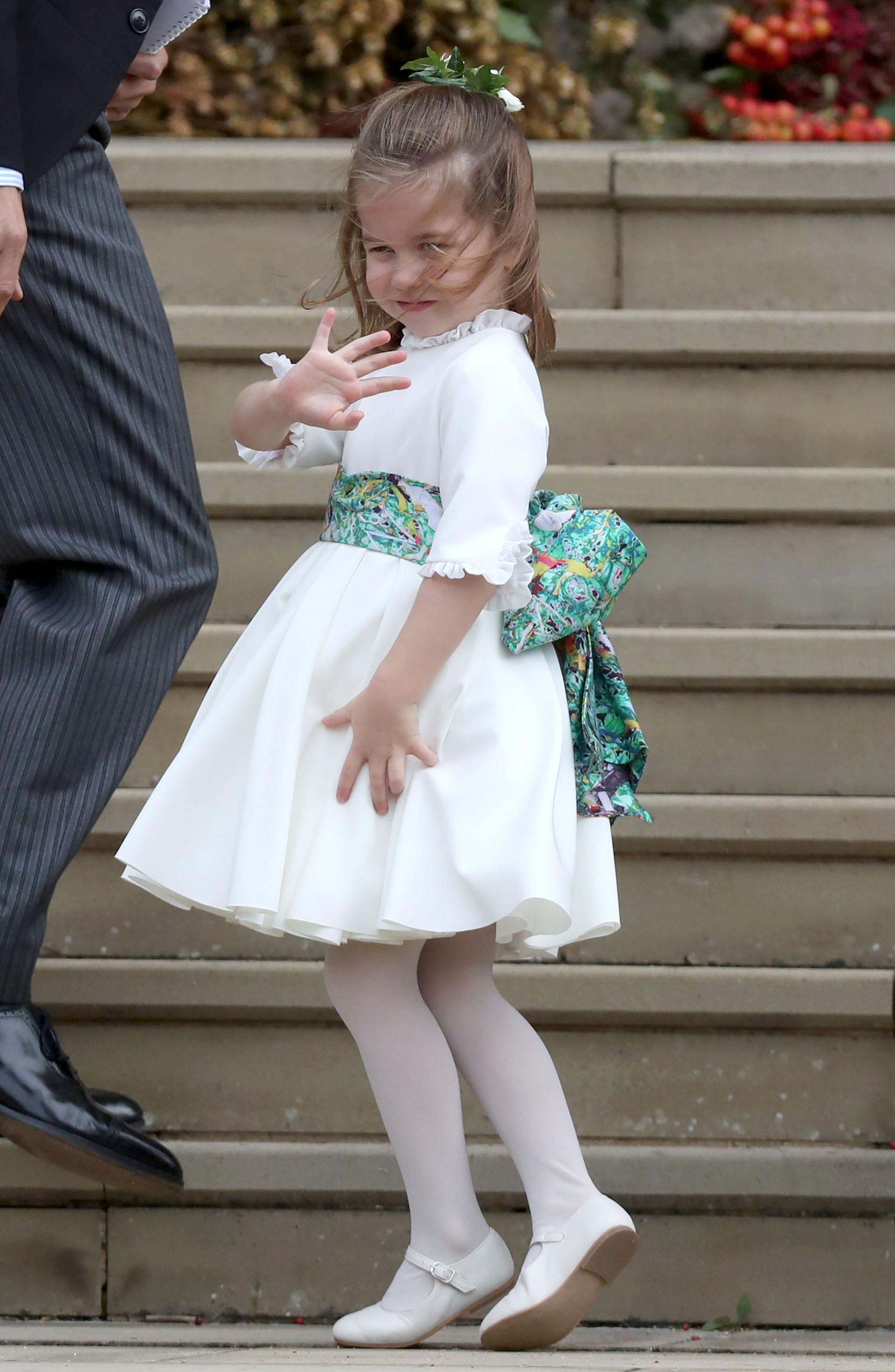 La princesa Charlotte, una vez más, damita de honor