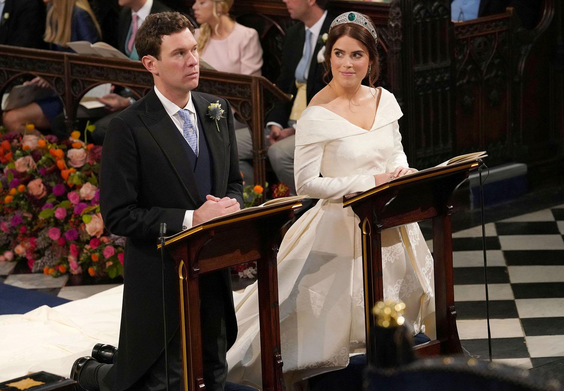 Miradas de amor durante la ceremonia que duró 45 minutos