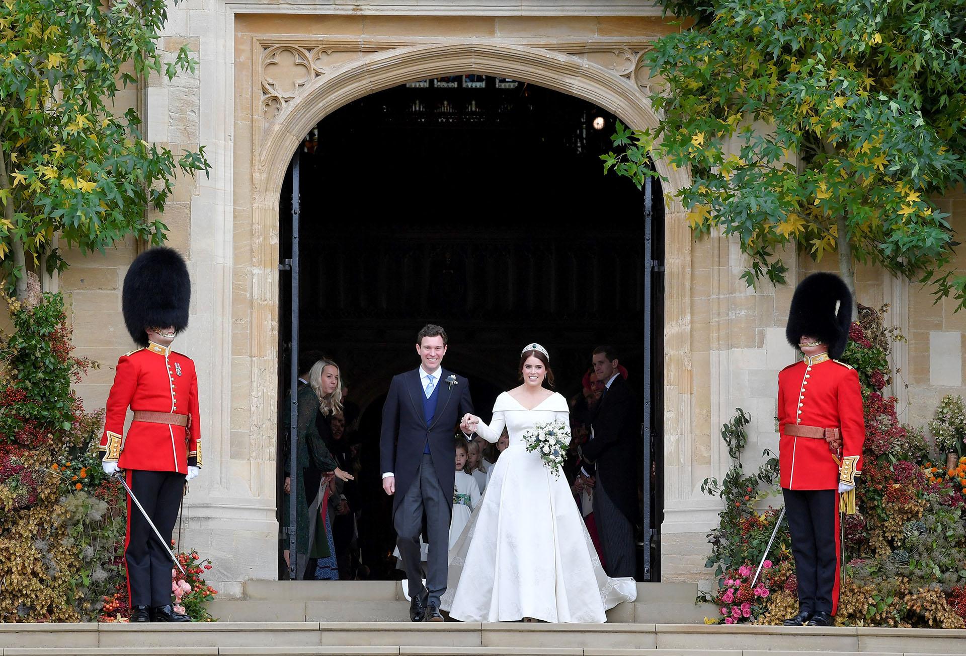 Ya casados, la princesa Eugenie y Jack Brooksbank son marido y mujer