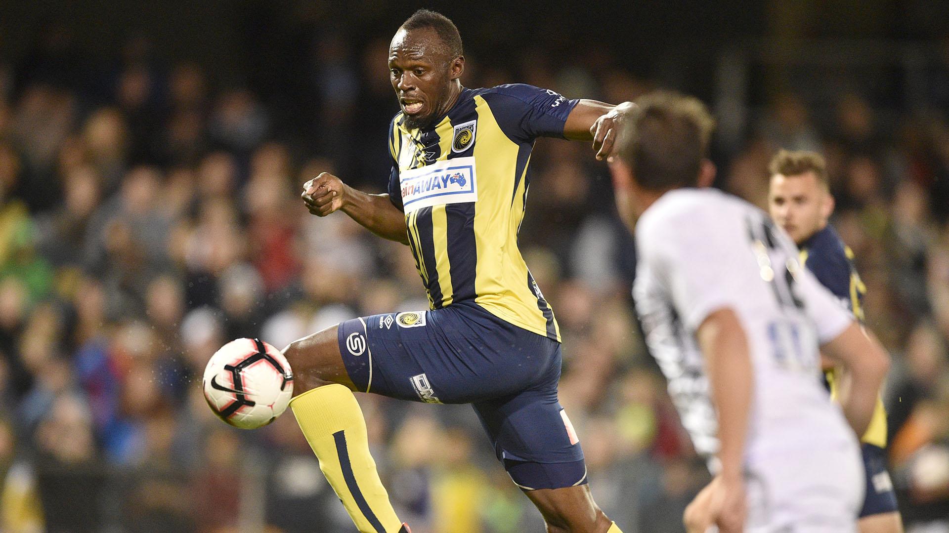 (AFP) Bolt convirtió dos goles en su último partido