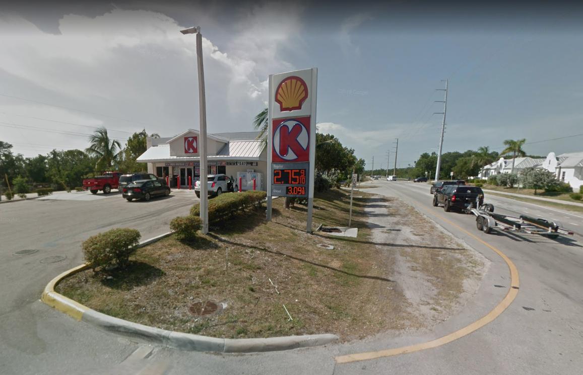 La tienda Círculo K en la gasolinera de la milla 92 en Cayo Tavernier, en el sur de la Florida