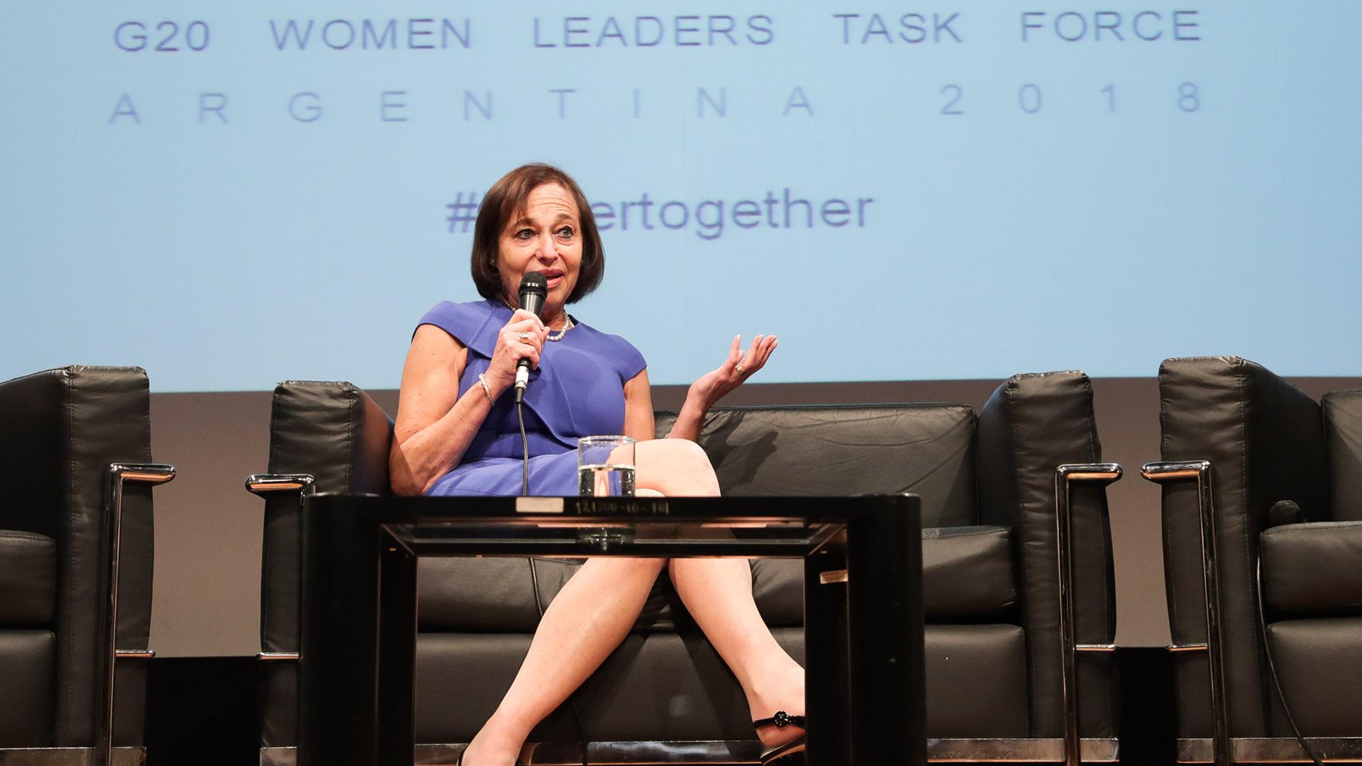 Susan Segal (Presidente & Ceo ASCOA) contó su propia historia en el ámbito laboral