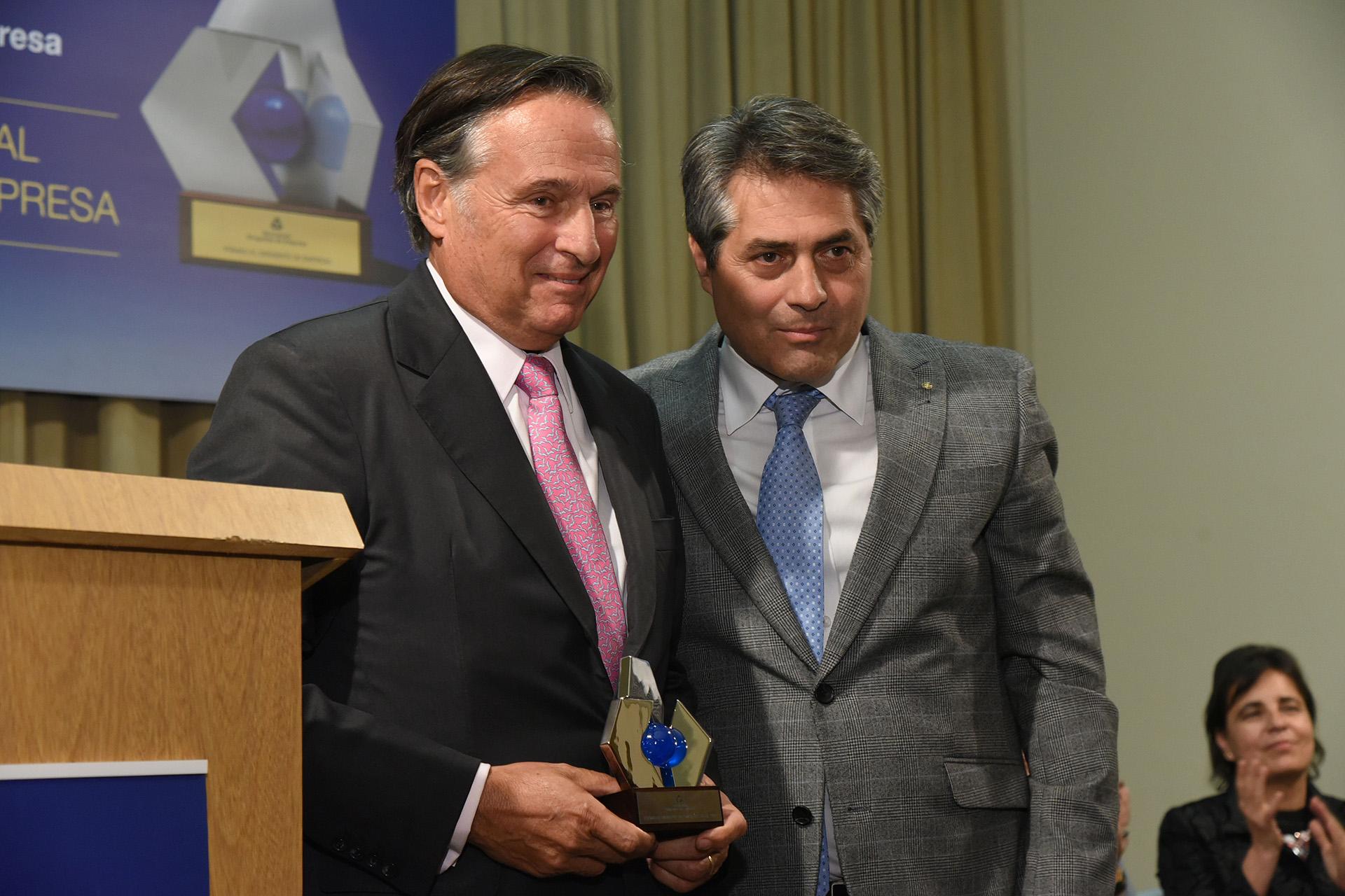 En la categoría Agroindustria fue distinguido Carlos Miguens (San Miguel S.A.), quien recibió su premio de manos de Gastón O'Donnell