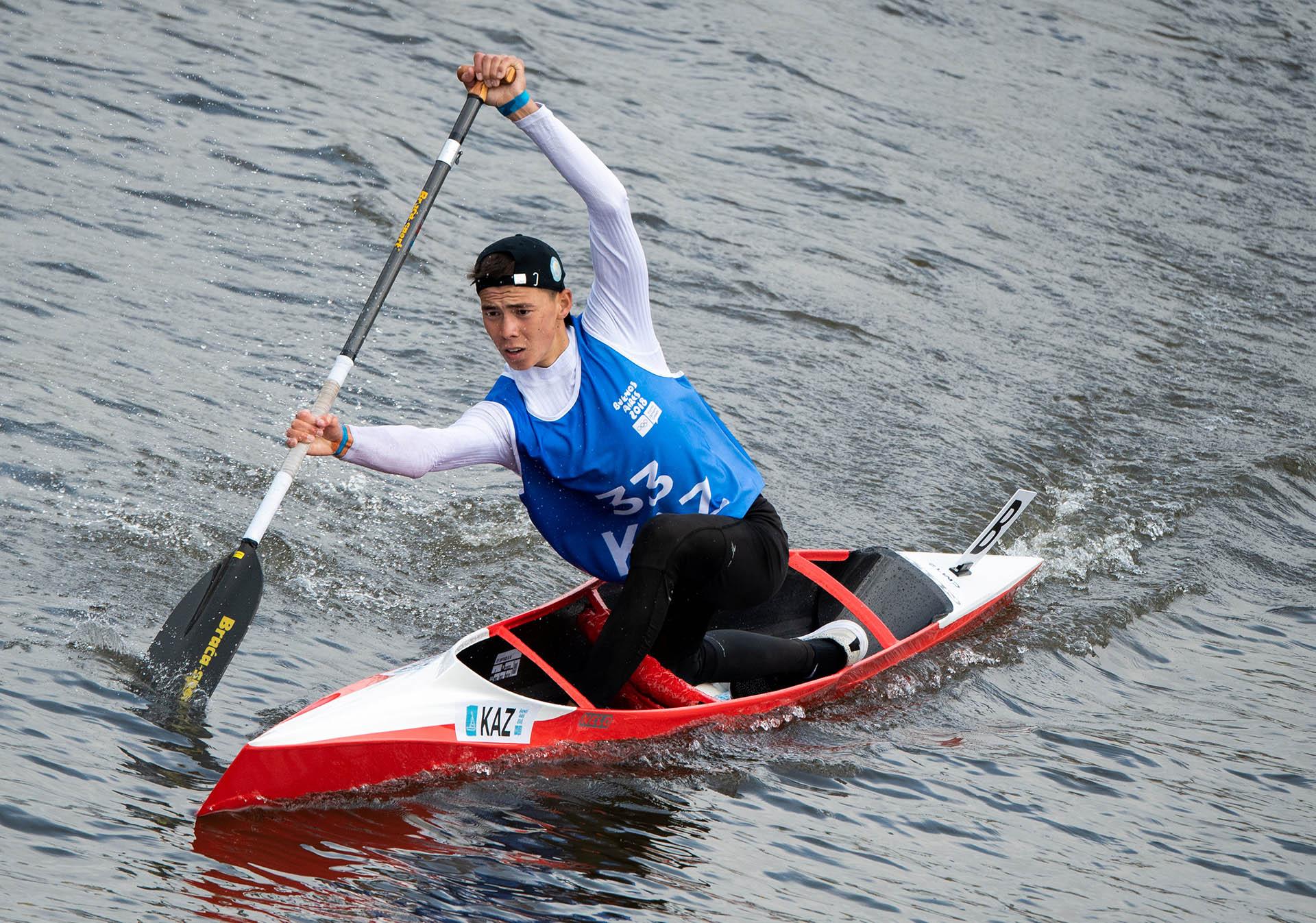 Dias Bakhraddin, de Kazajistánfue uno de los más rápidos en Puerto Madero (Foto: REUTERS)