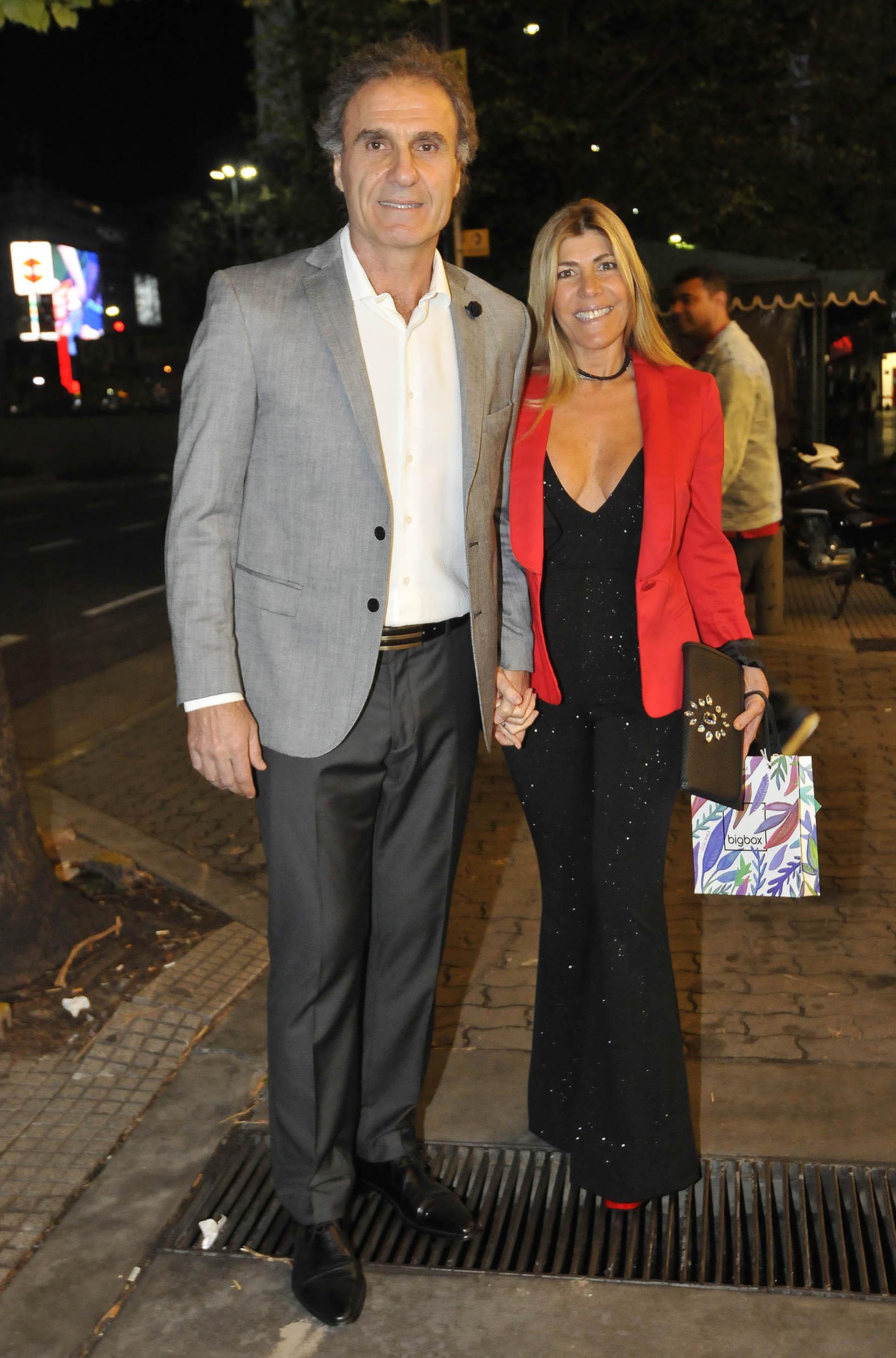 Oscar Ruggeri y su esposa, Nancy Otero