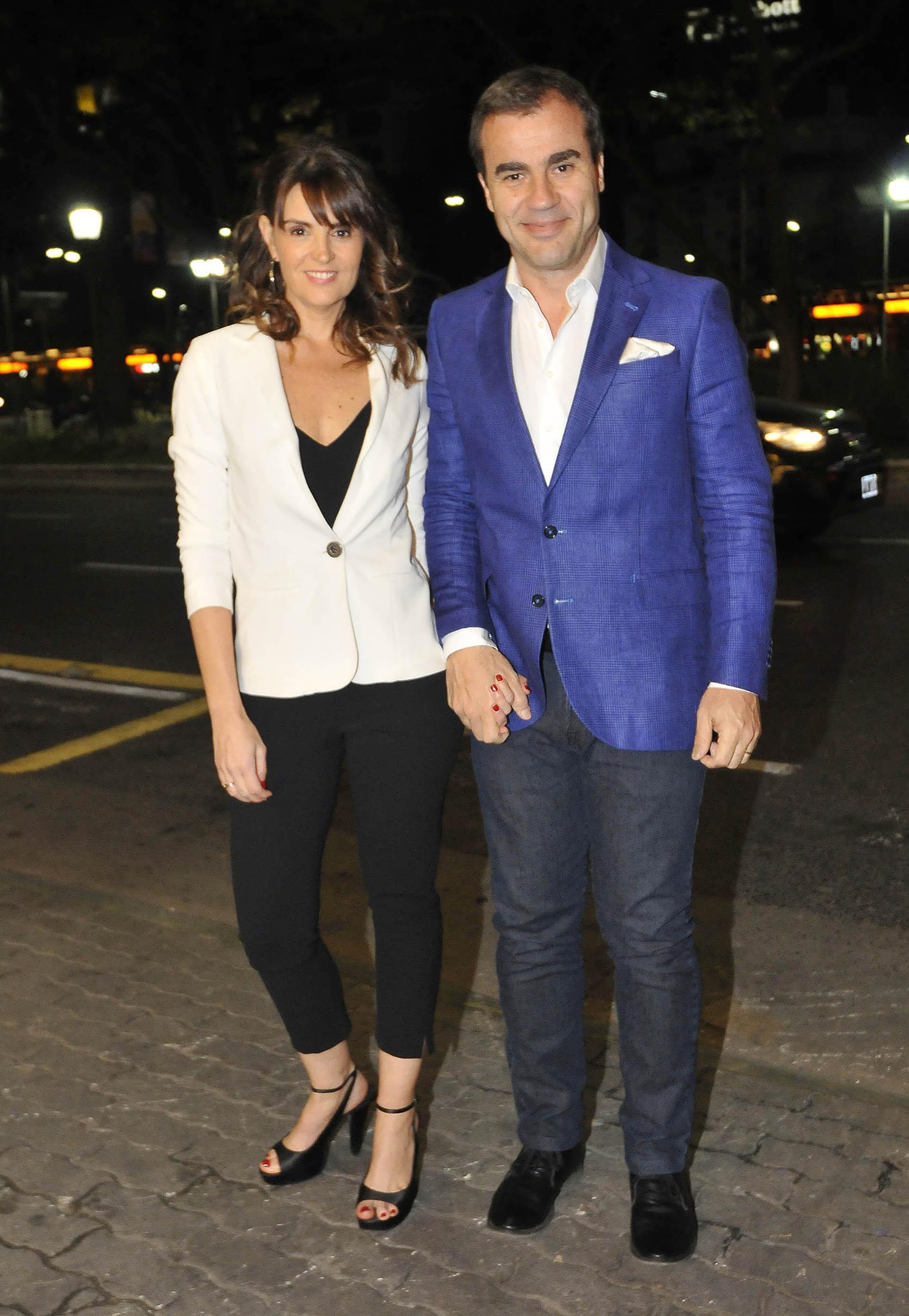 Guillermo Poggi y su mujer