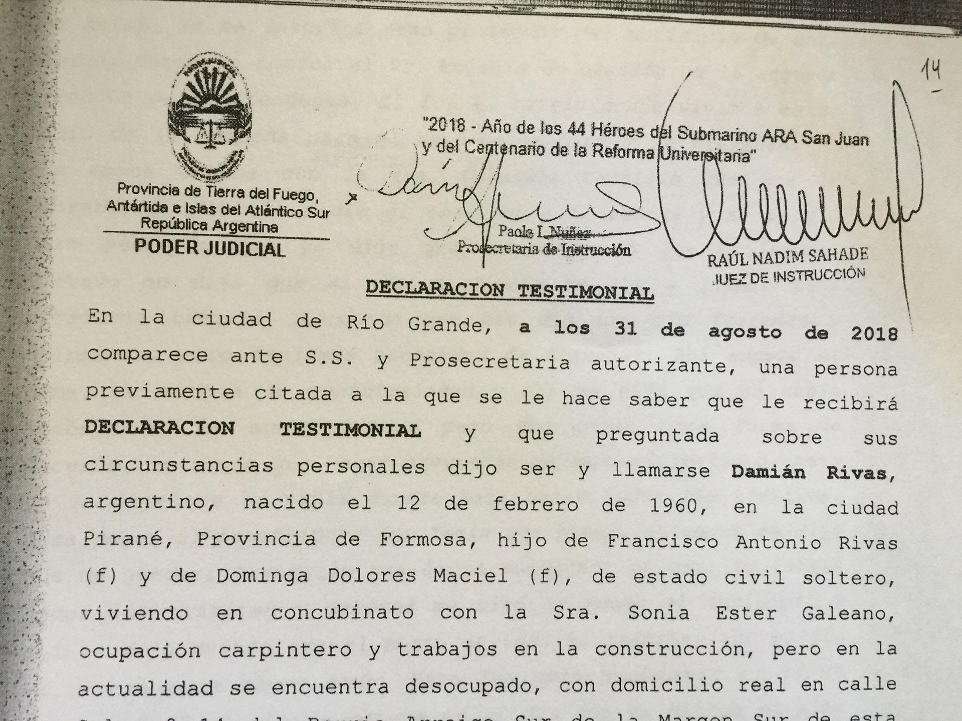 Captura testimonial Rivas carátula RECORTADA