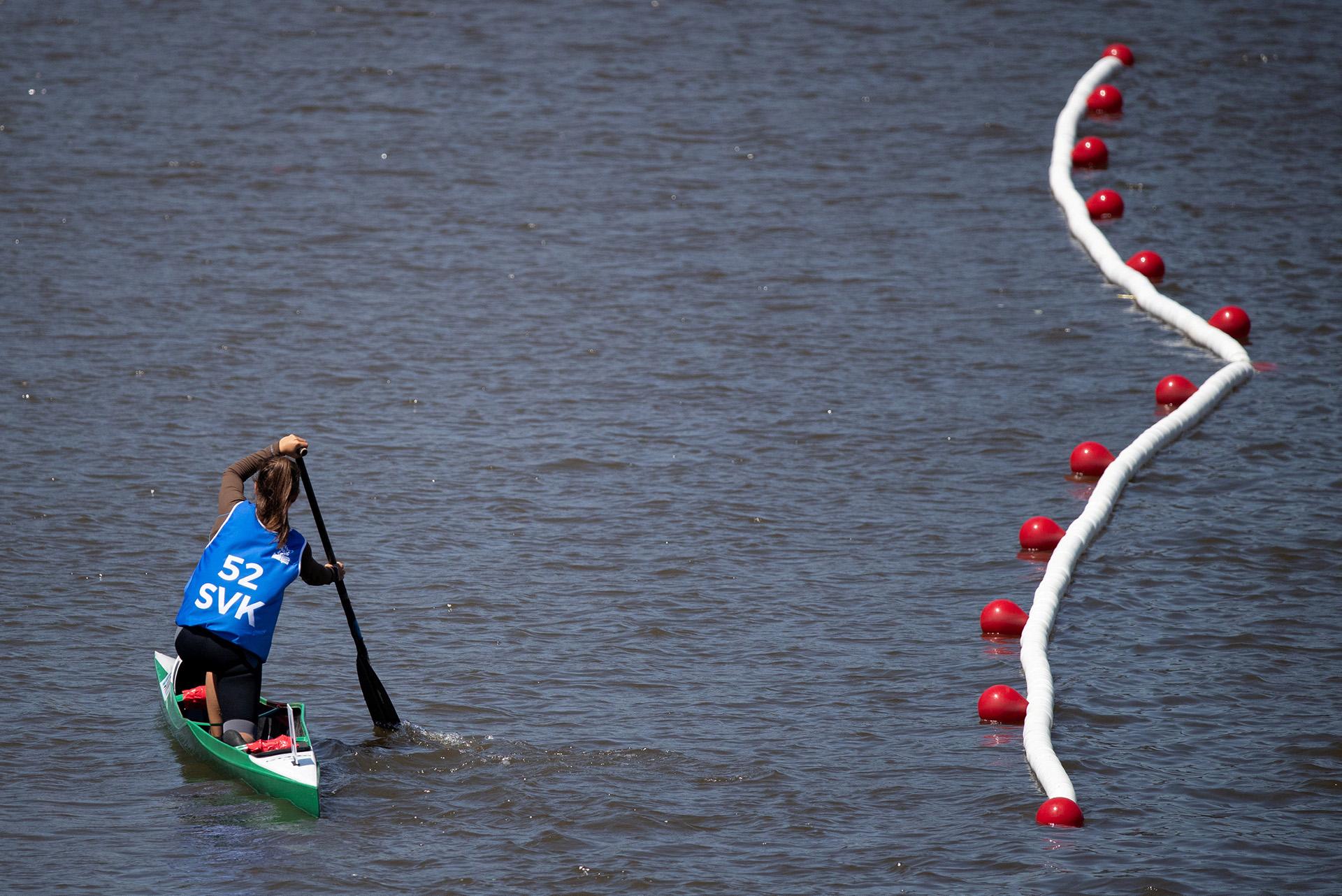 La eslovaca Emanuela Luknarovafue una de las más rápidas en losDiques de Puerto Madero (Foto: REUTERS)