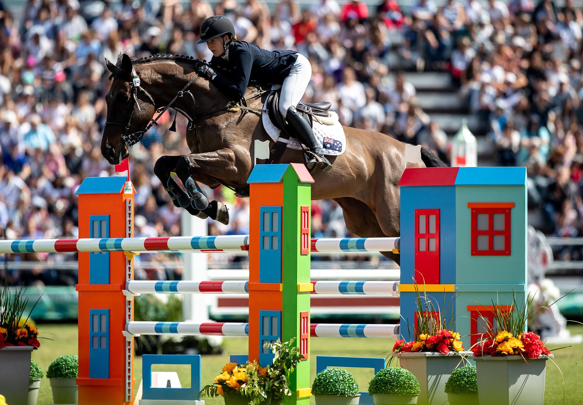 La australiana Madi Sinderberryjunto a su caballoZambofue una de las protagonistas en ecuestre(Foto:REUTERS)