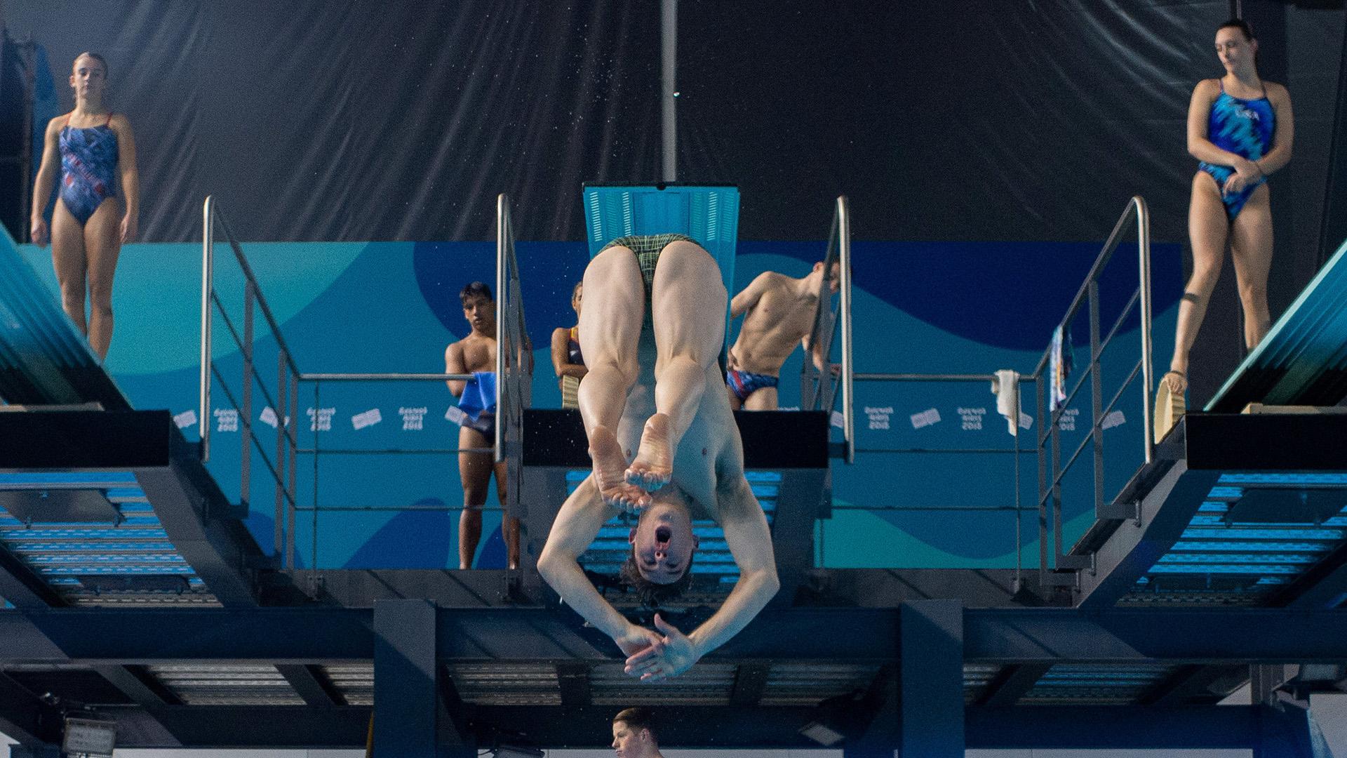Los entrenamientos de Matthew Carter en el natatorio del Parque Olímpico (Foto: REUTERS)