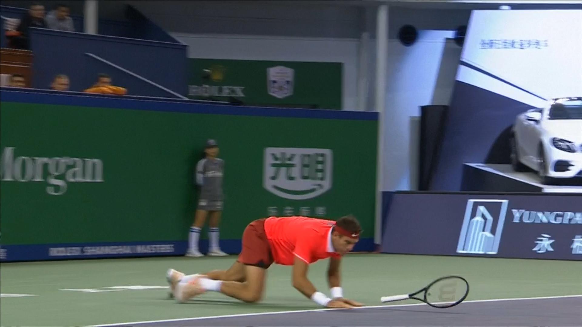 El momento de la lesión de Del Potro el 11 de noviembre en el Masters de Shanghai