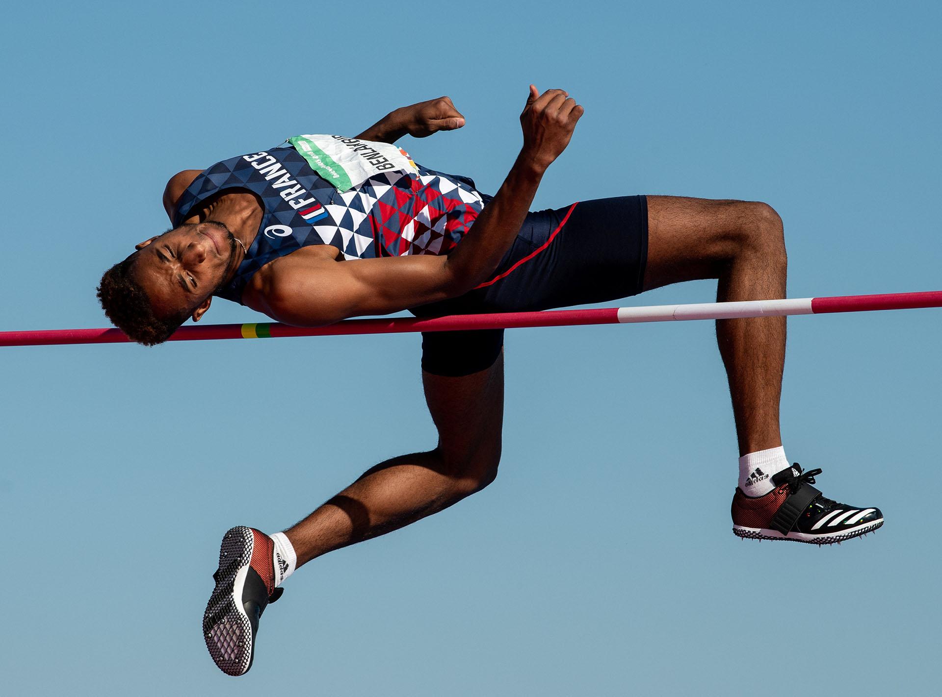 El francés Mohammed-Ali Benlahbib realiza uno de sus saltos(Reuters)