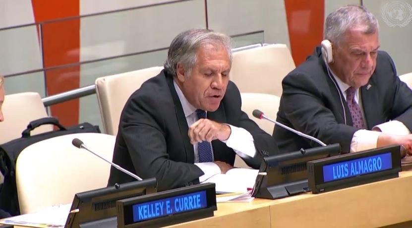 El secretario general de la OEA participó de la convocatoria de EEUU en la ONU para denunciar la situación de los presos políticos en la isla
