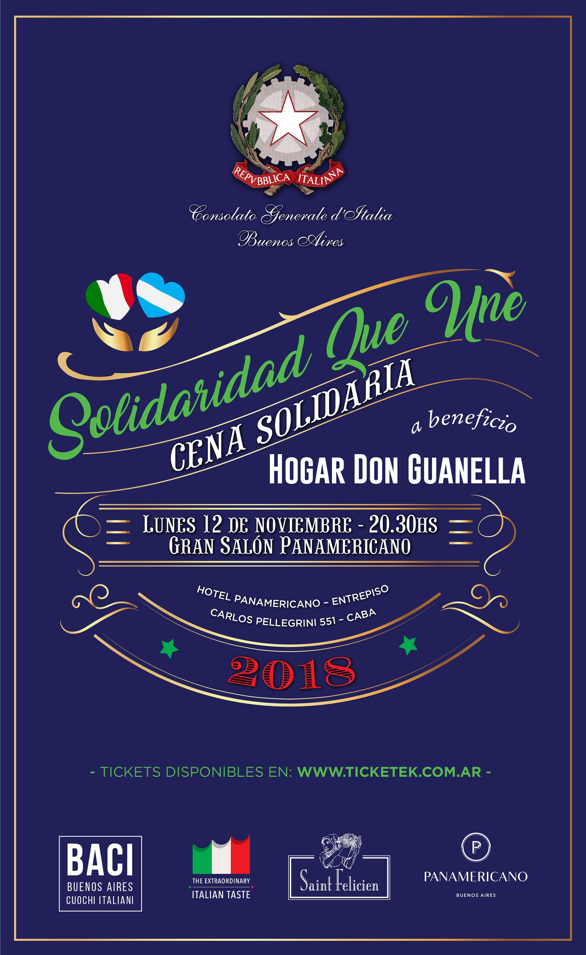 Solidaridad que une, la cena benéfica para recaudar fondos que serán destinado al Hogar Guanella