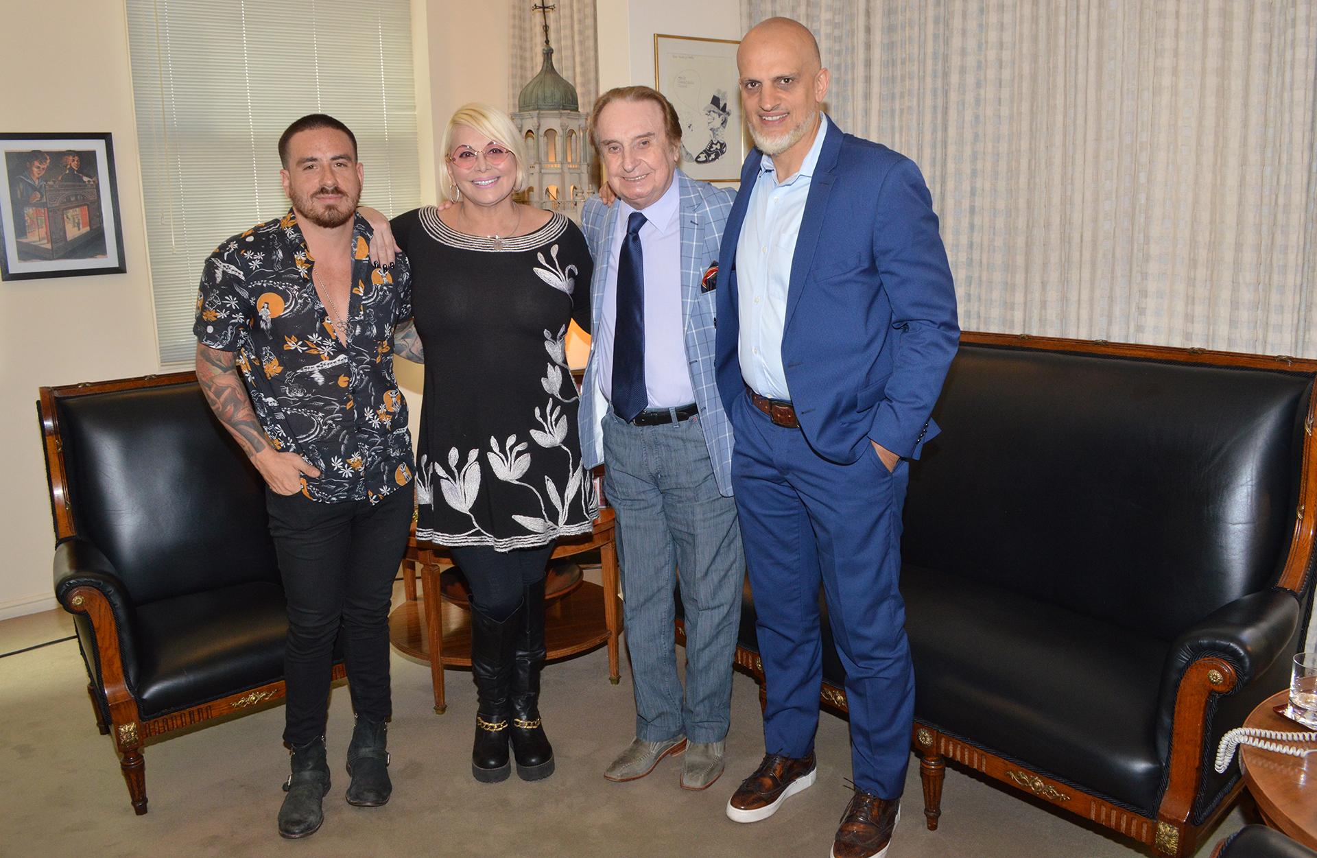 Federico Bal, Carmen Barbieri, Santiago Bal, Guillermo Marín (Fotos: Teleshow)