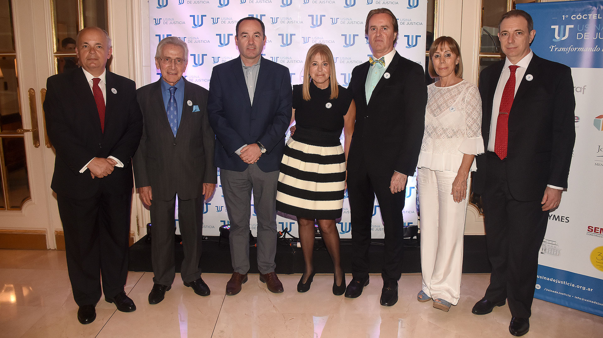 Alejandro Fargosi, Marcos Aguinis, el senador Lucas Fiorini, Diana Cohen Agrest, Martín Etchegoyen Lynch, Marcela Dal Verme y Franklin Rawson