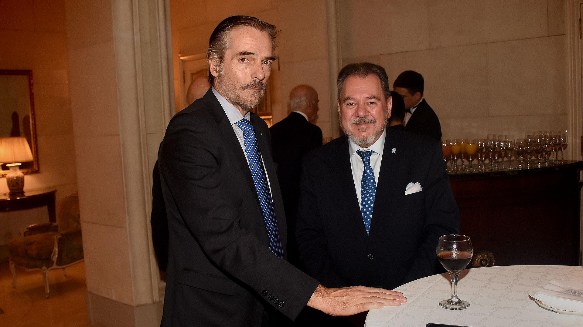 Gustavo Hornos, juez de la Sala IV de la Cámara Federal de Casación Penal, y el empresario Mario Montoto