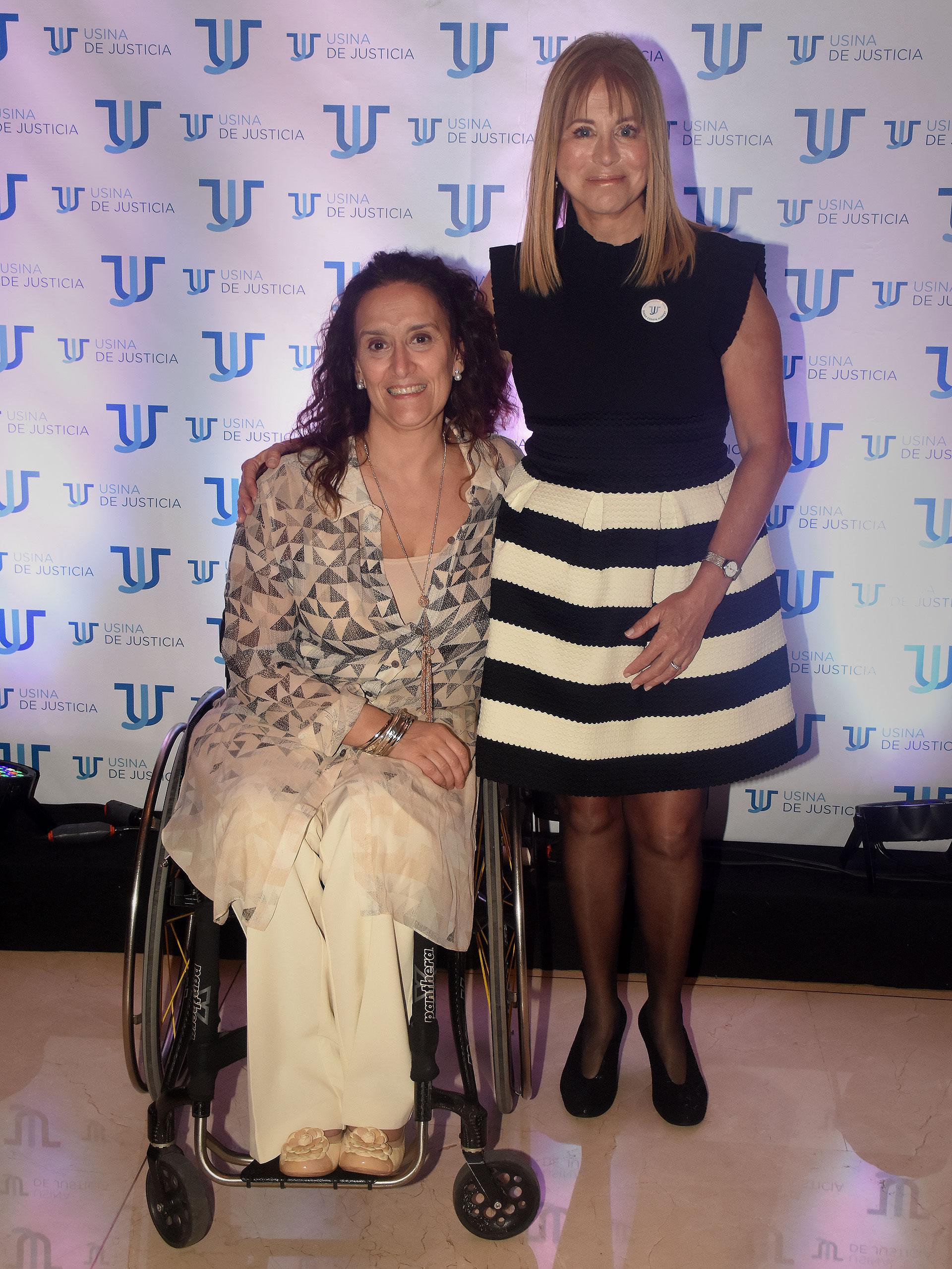 La vicepresidente Gabriela Michetti y Diana Cohen Agrest. Usina de Justicia se gestó en 2011, cuando Cohen Agrest esperaba el juicio por el asesinato de su hijo Ezequiel