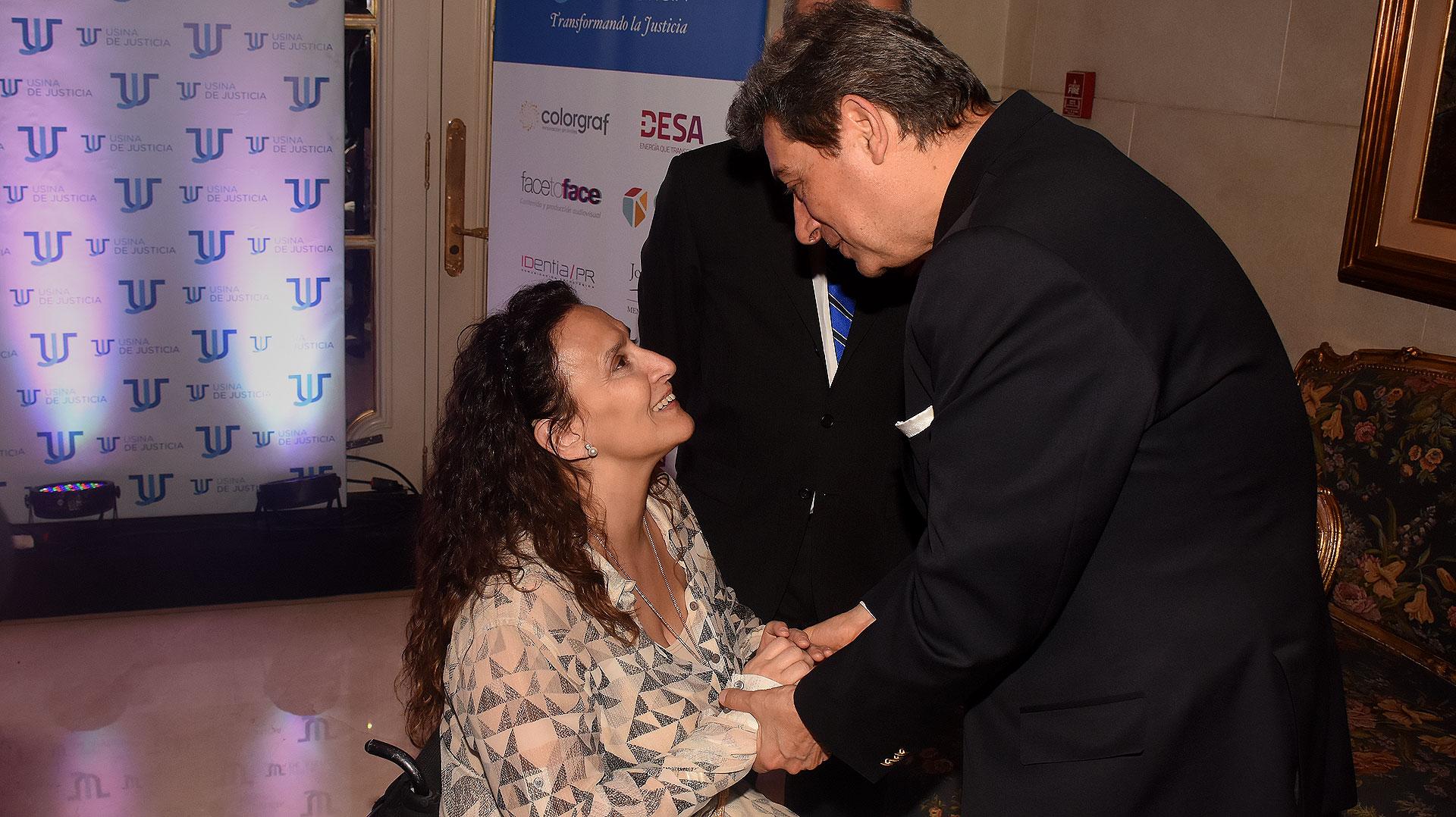 Gabriela Michetti y el juez Horacio Rosatti