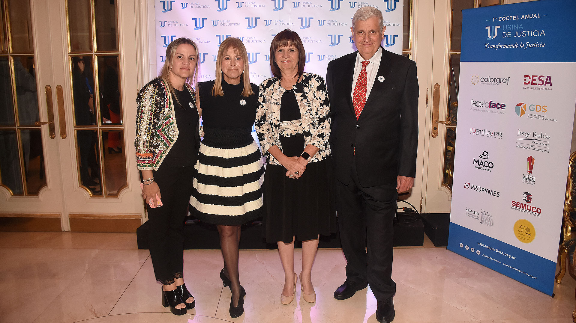 Carolina Píparo, Diana Cohen Agrest, Patricia Bullrich y Guillermo Bargna