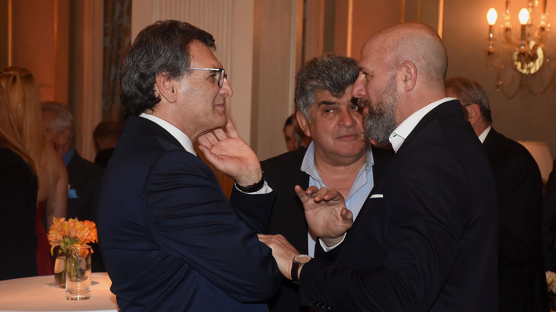 Claudio Avruj y el diputado Wado Wolff