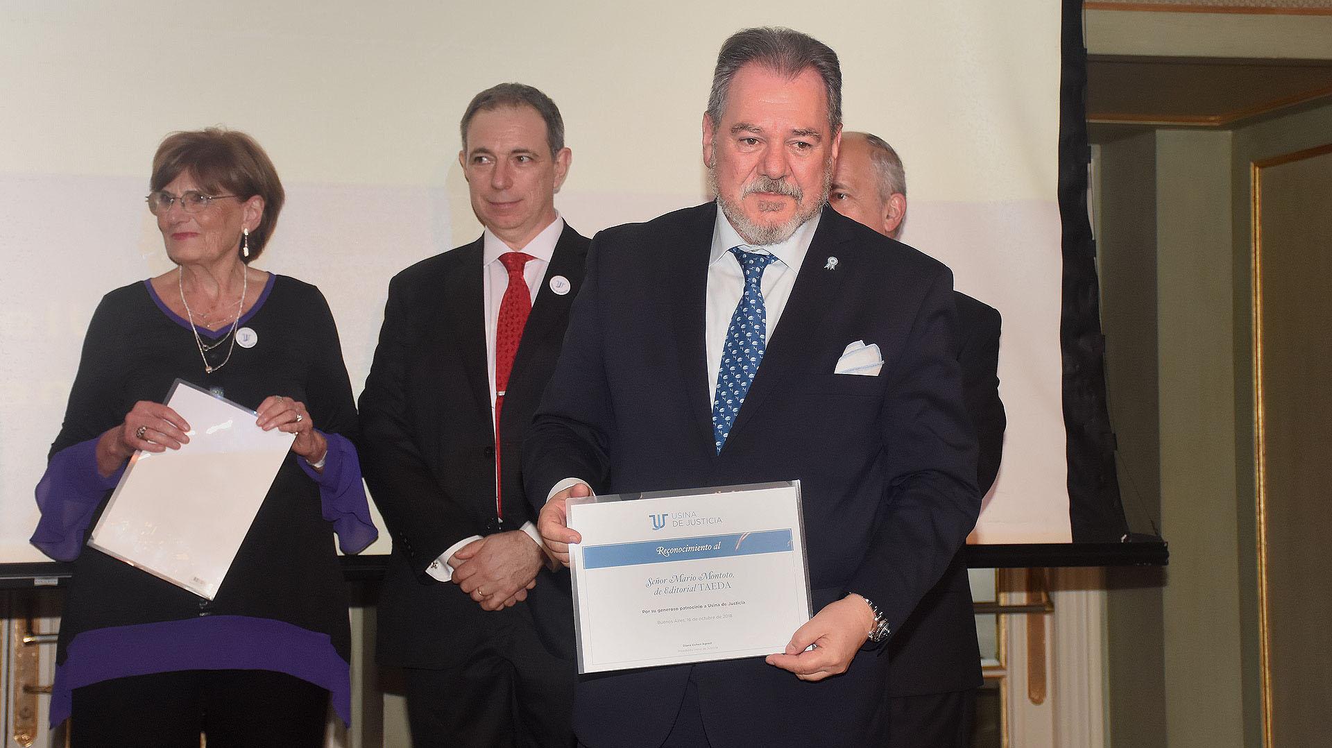 El reconocimiento al presidente de Editorial TAEDA, Mario Montoto