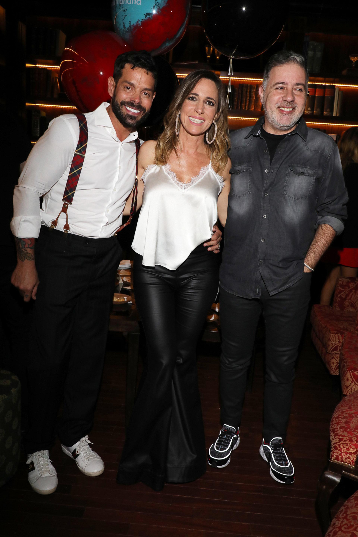 Mariano Caprarola, Sandra Borghi y Fabián Doman (Crédito: Christian Bochichio / Teleshow)