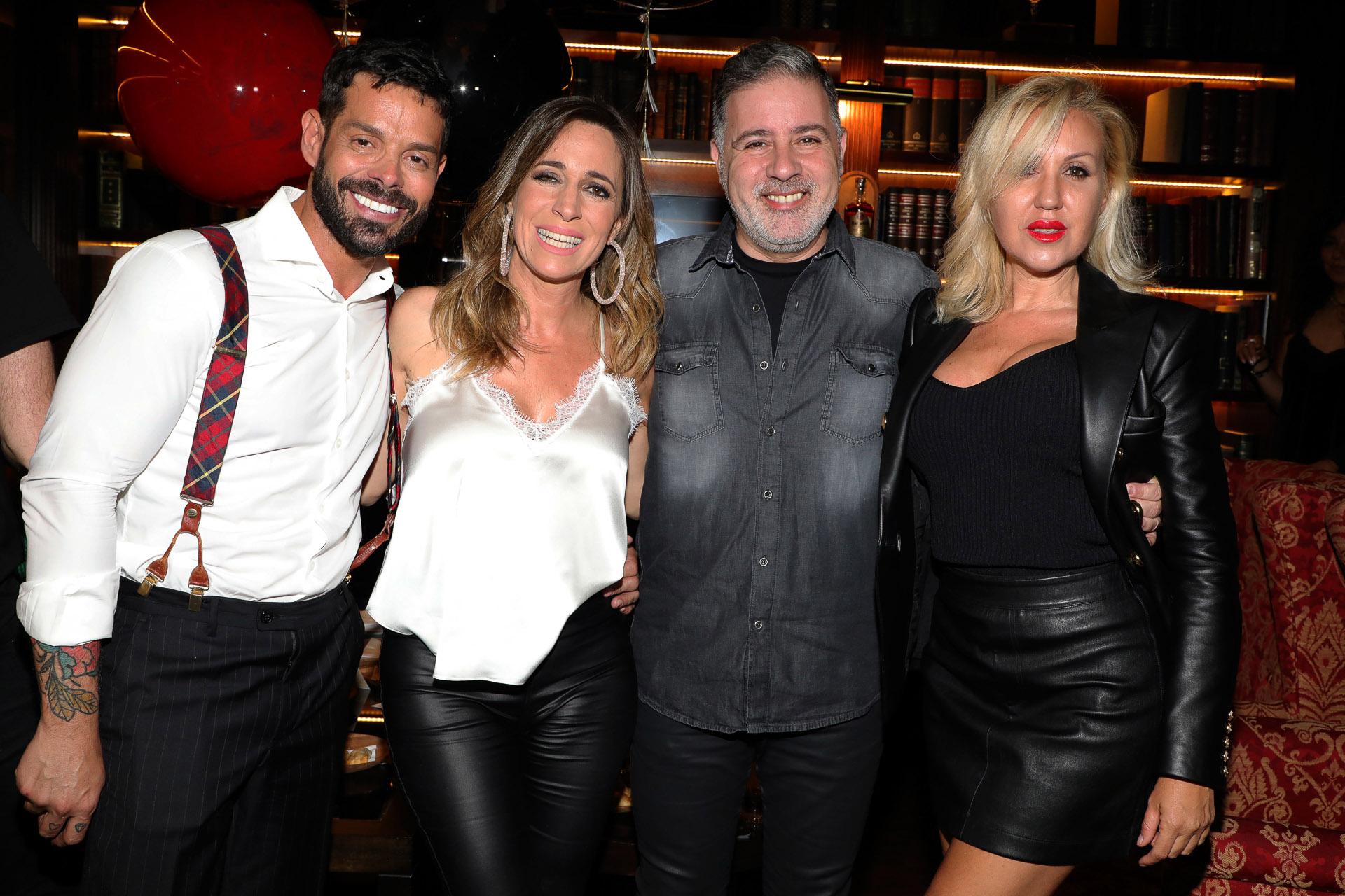 Mariano Caprarola, Sandra Borghi, Fabián Doman y su novia