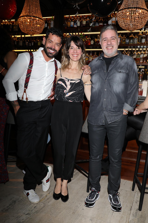 Mariano Caprarola, Alejandra Alburquerque y Fabián Doman