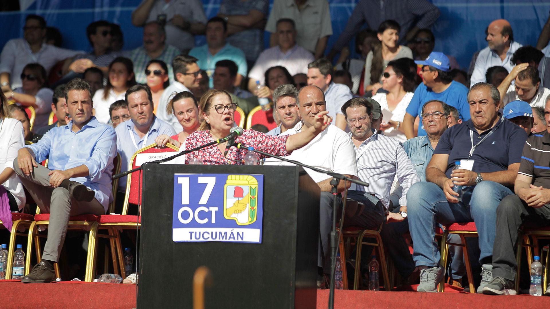 Graciela Camaño fue una de las oradoras