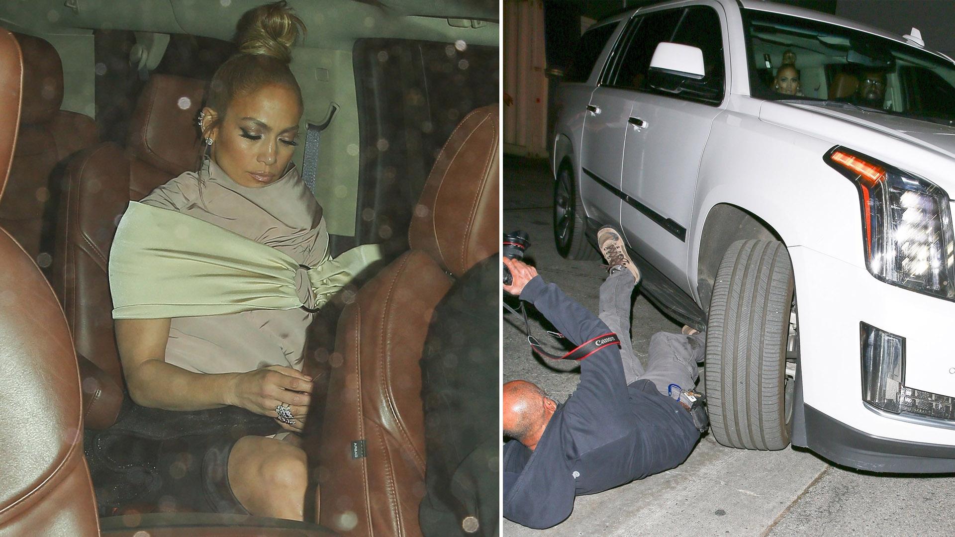 En Los Ángeles, Jennifer Lopez fue a cenar a un restaurante con su pareja. Pero, su chofer atropelló a un fotógrafo que intentaba retratar a la pareja (Groby Group)