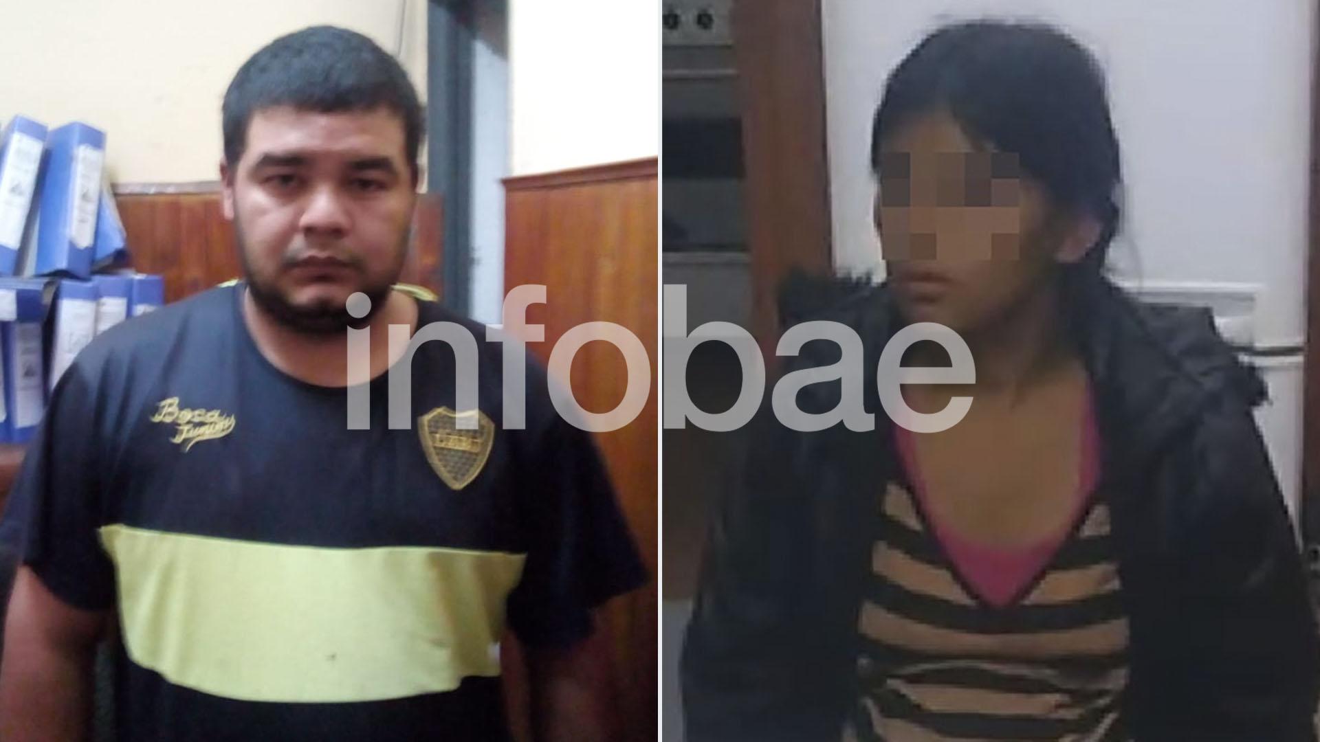 Fabián González y Leonela Ayala, tíos de Sheila detenidos en el caso.