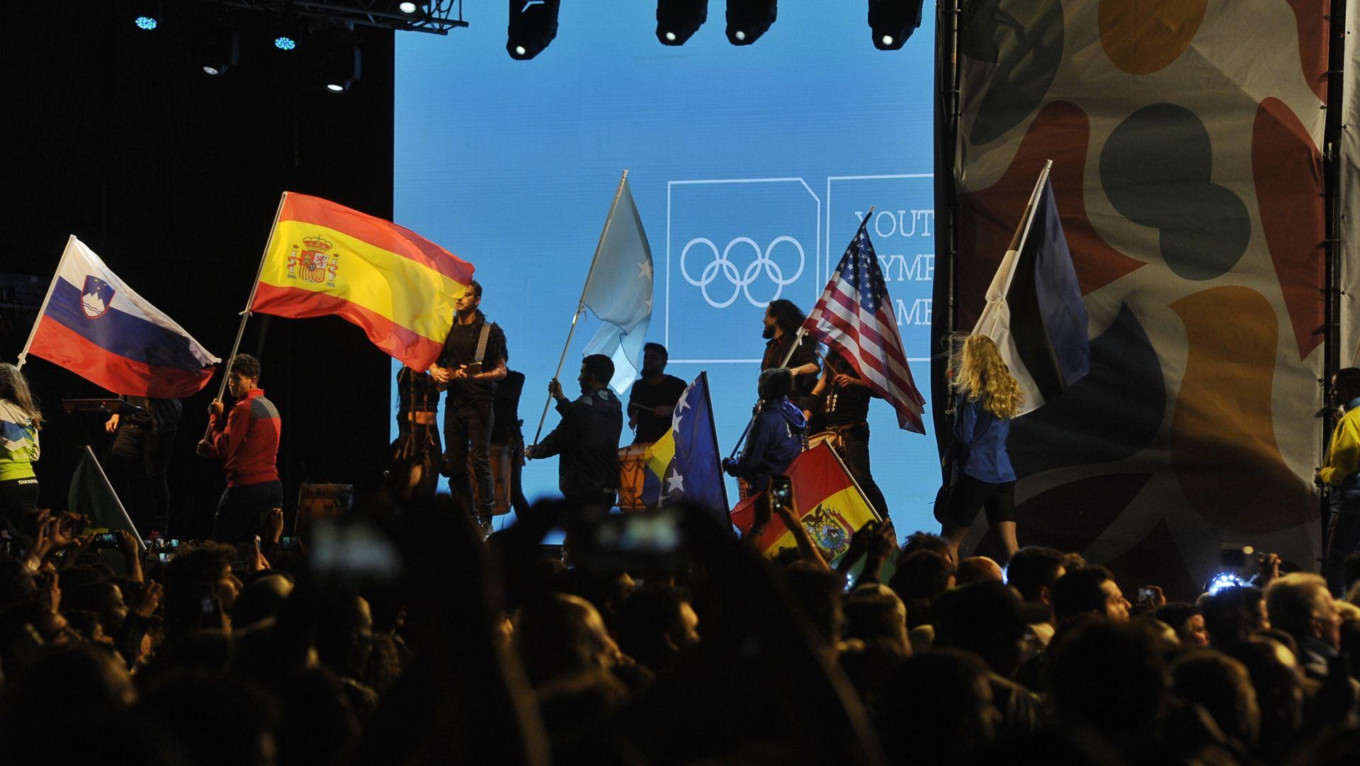 Los 206 países que participaron de Buenos Aires 2018 llevaron sus banderas (Patricio Murphy)