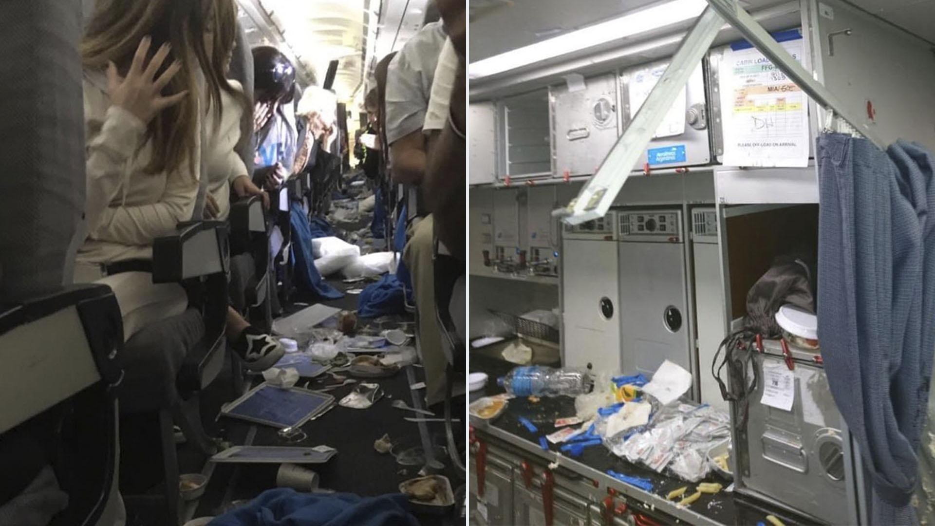 La turbulenecia que atravesó el vuelo AR 1303 de Aerolíneas Argentinas dejó un saldo de 20 heridos
