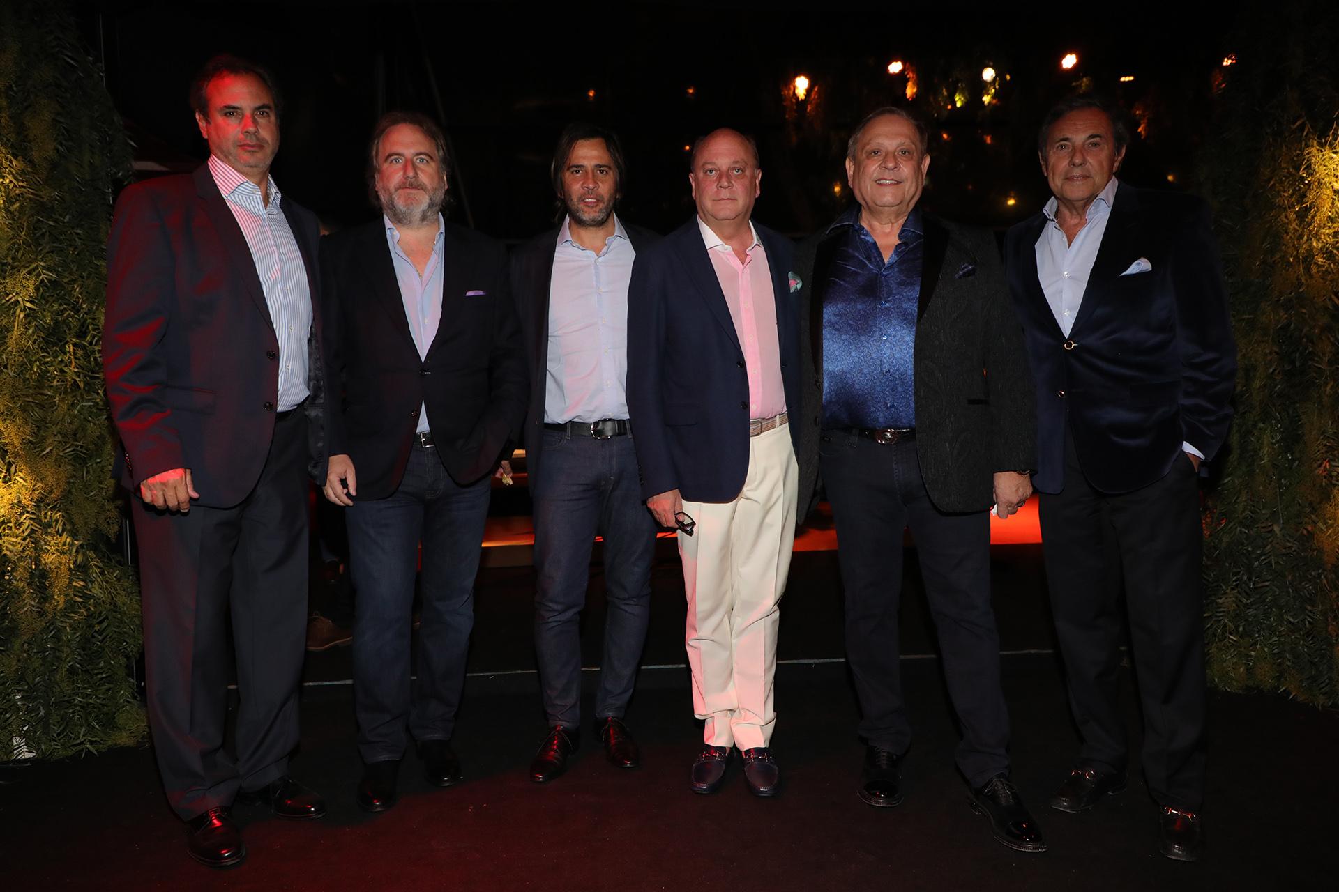 Rodolfo Smith Estrada, Tato Lanusse, Santiago Pando, Martín Cabrales, Néstor Abatidaga y Jorge Sánchez Cordova