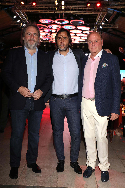 Tato Lanusse, Santiago Pando y Martín Cabrales
