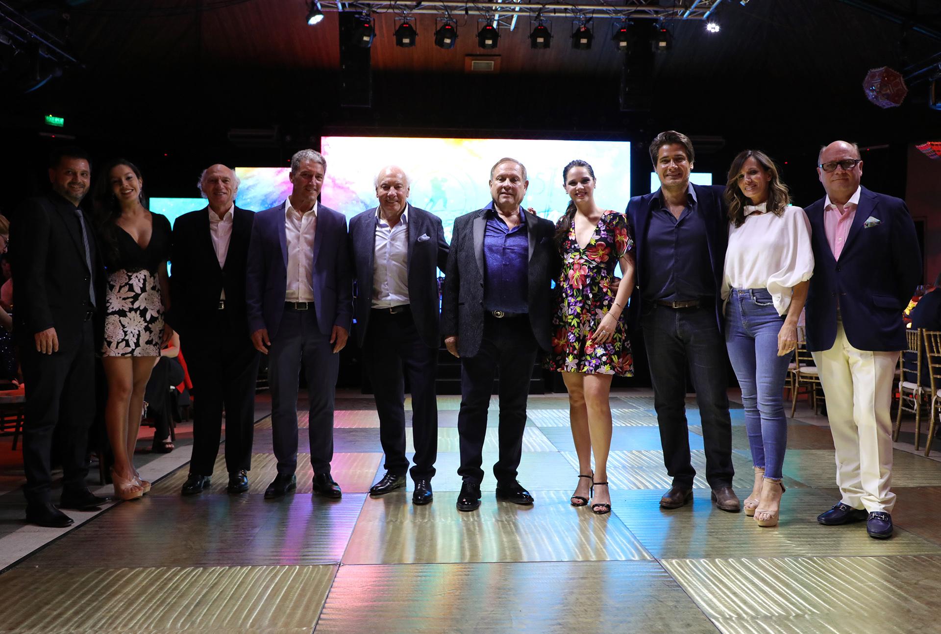 Jorge Rojas y su pareja, Carlos Bianchi, José Scioli, Guillermo Coppola, Néstor Abatidaga, Natalí Márquez, Guillermo Andino, Carolina Prat y Martín Cabrales