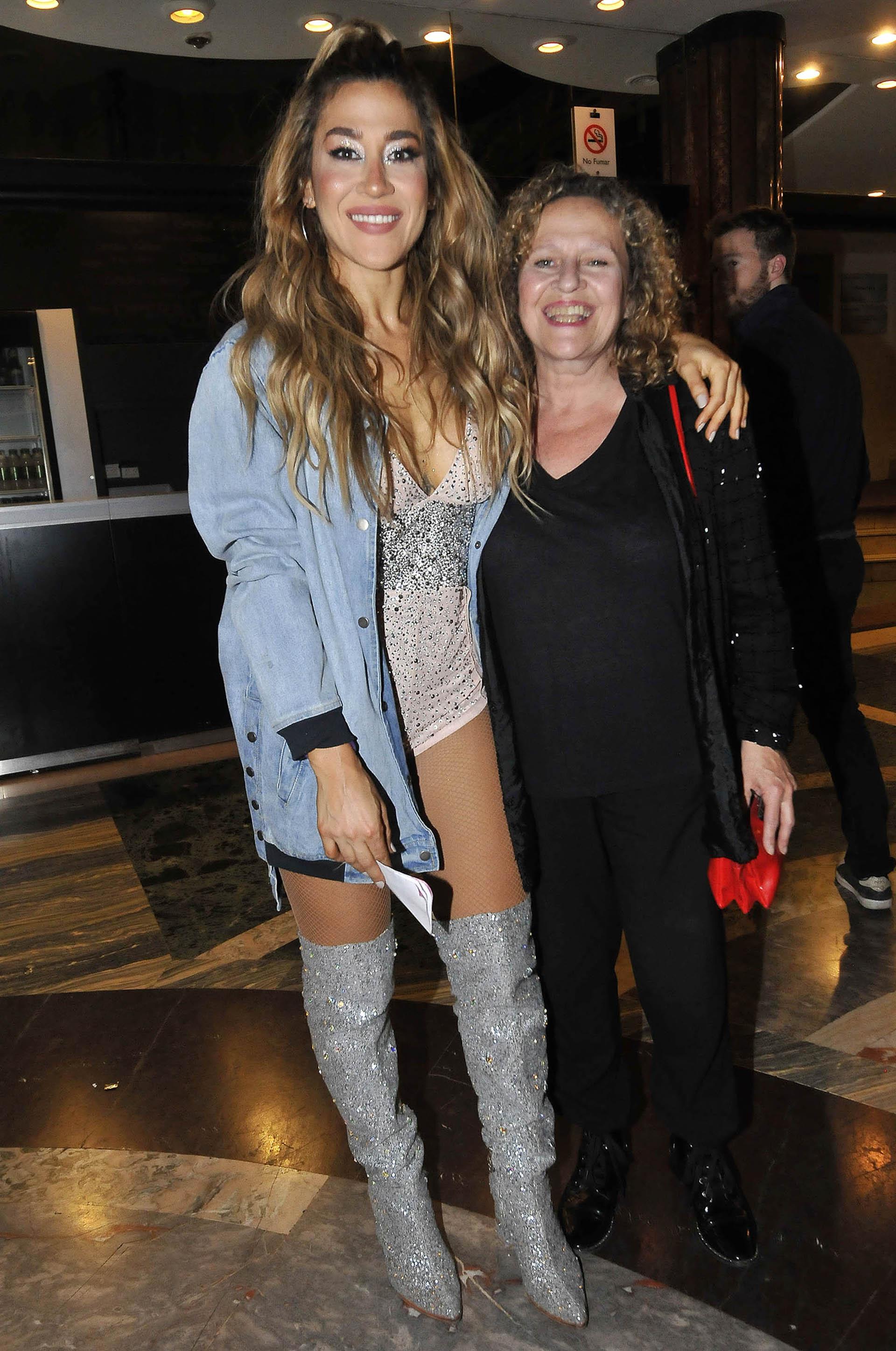 Jimena Barón con su mamá (Teleshow)