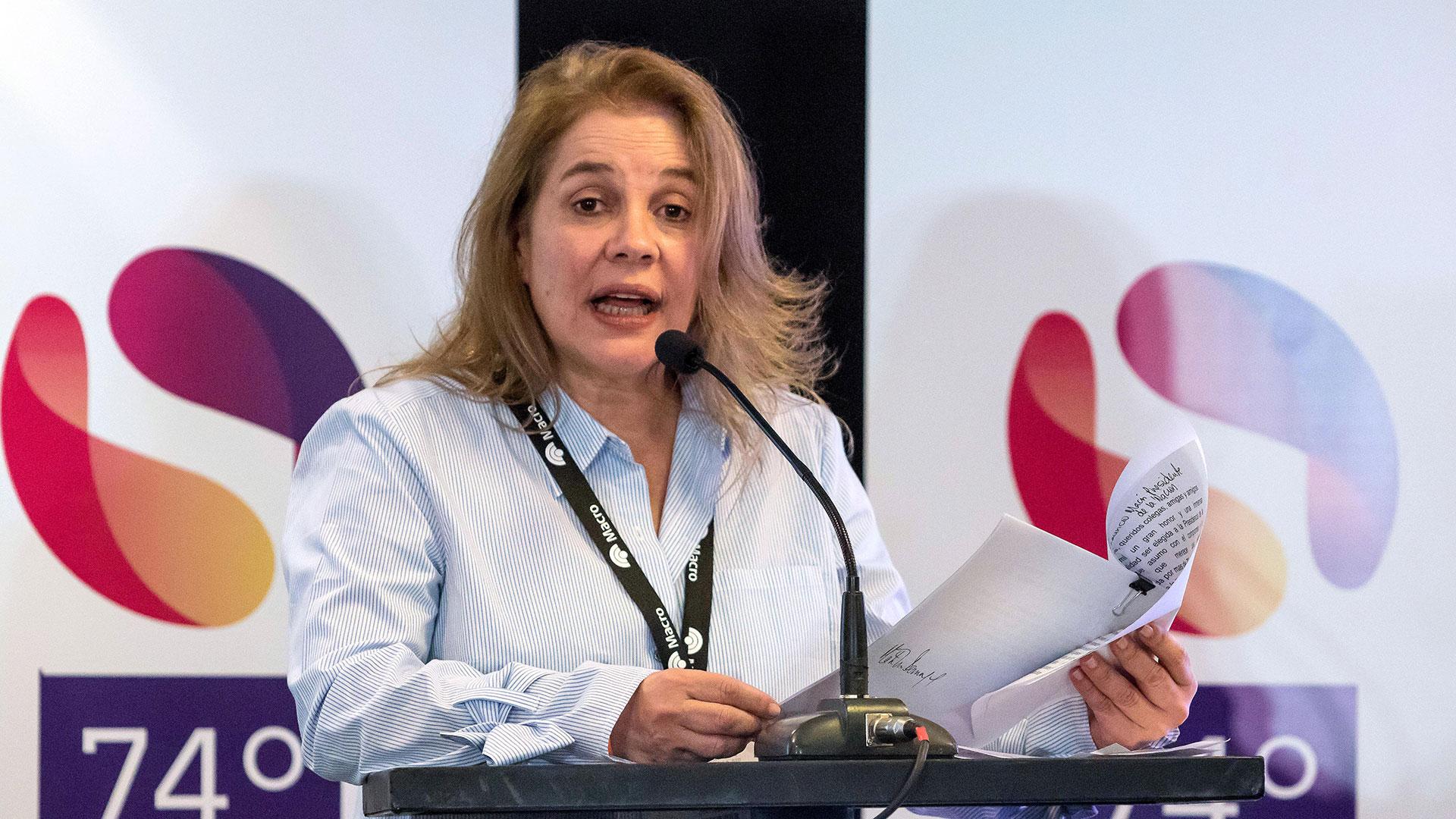 María Elvira Domínguez presidirá la delegación de la SIP (EFE)