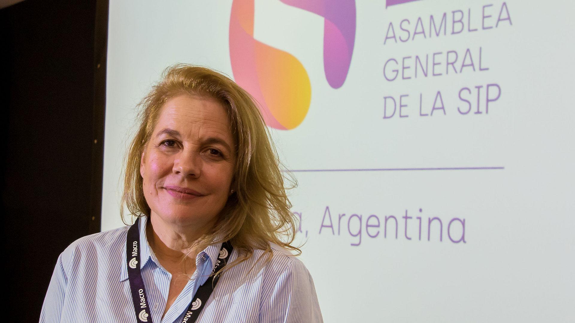 María Elvira Domínguez, directora del diario El País de Cali y presidente de la SIP (EFE)